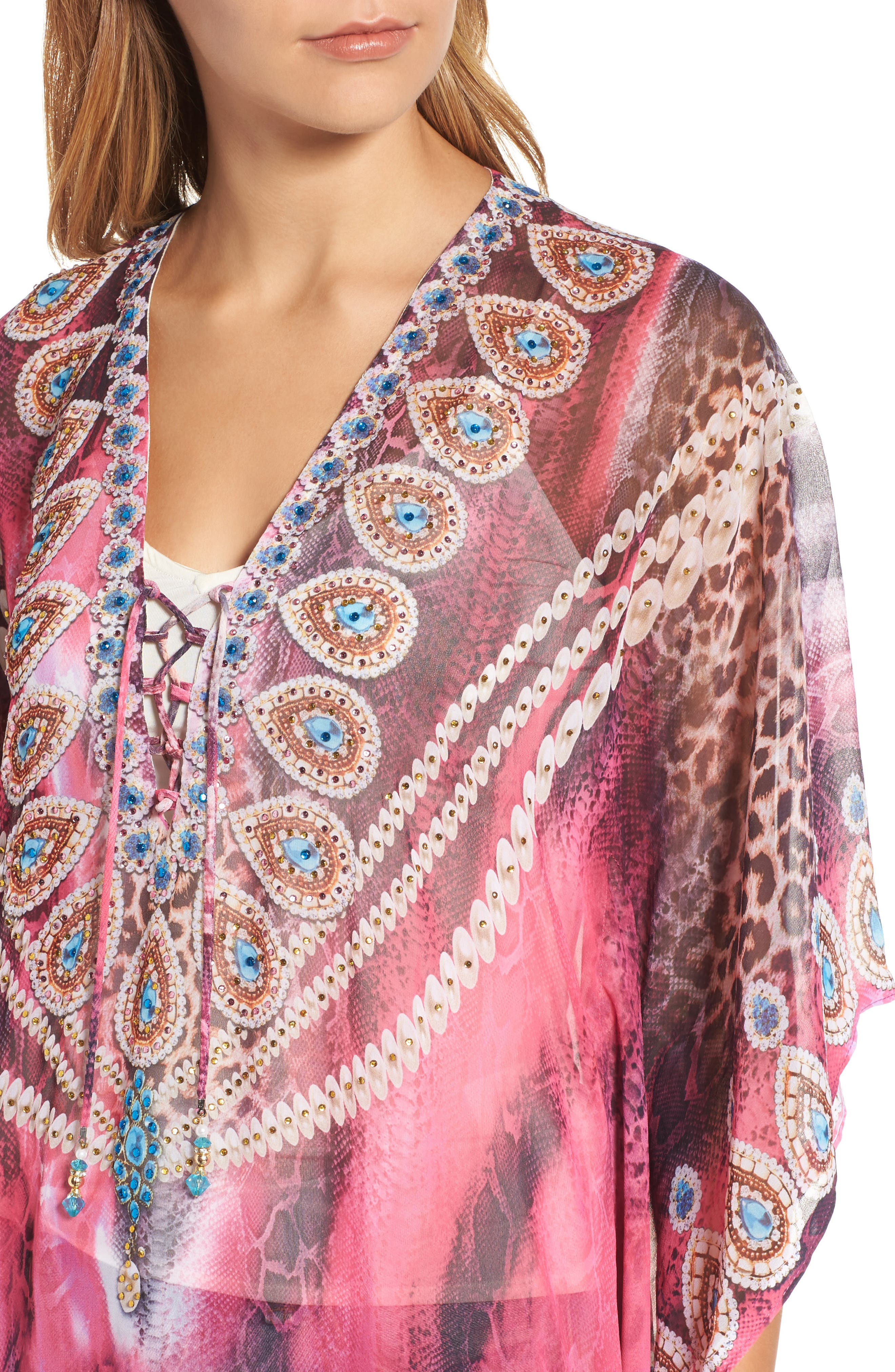 Marrakesh Long Kaftan,                             Alternate thumbnail 4, color,
