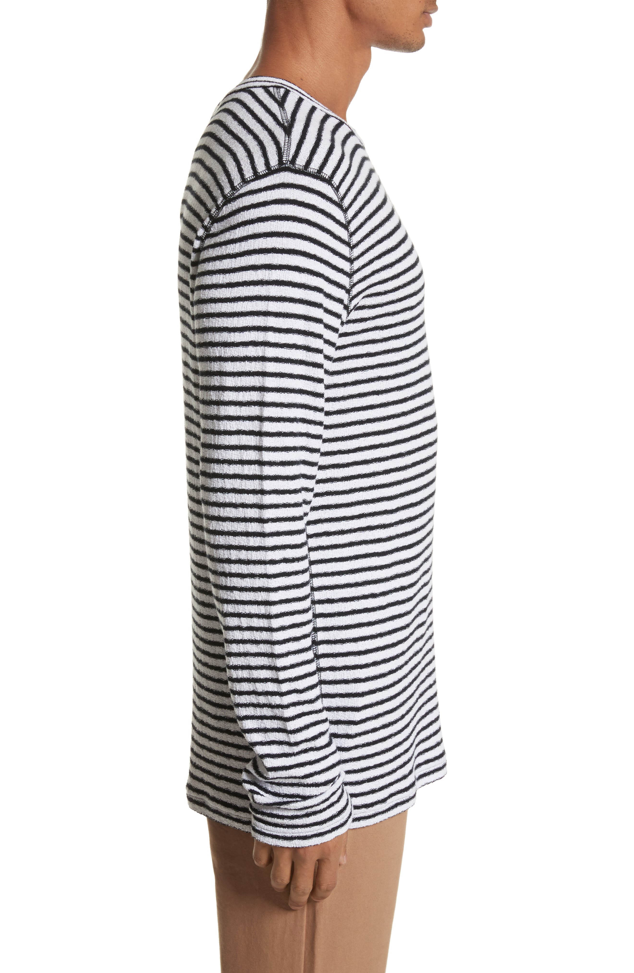 Alex Stripe Long Sleeve T-Shirt,                             Alternate thumbnail 3, color,                             112