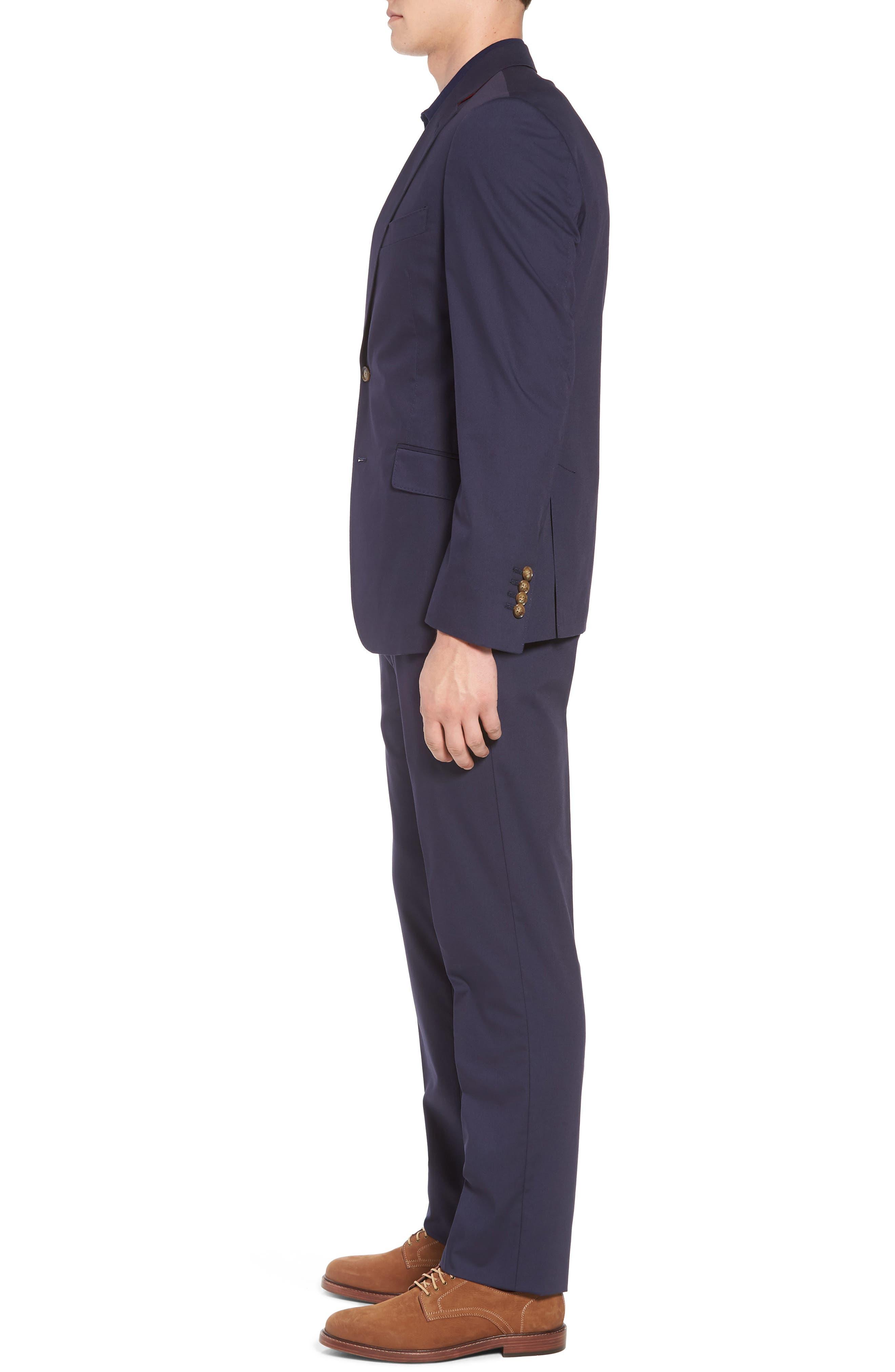 Irons AIM Classic Fit Solid Cotton Blend Suit,                             Alternate thumbnail 3, color,                             410