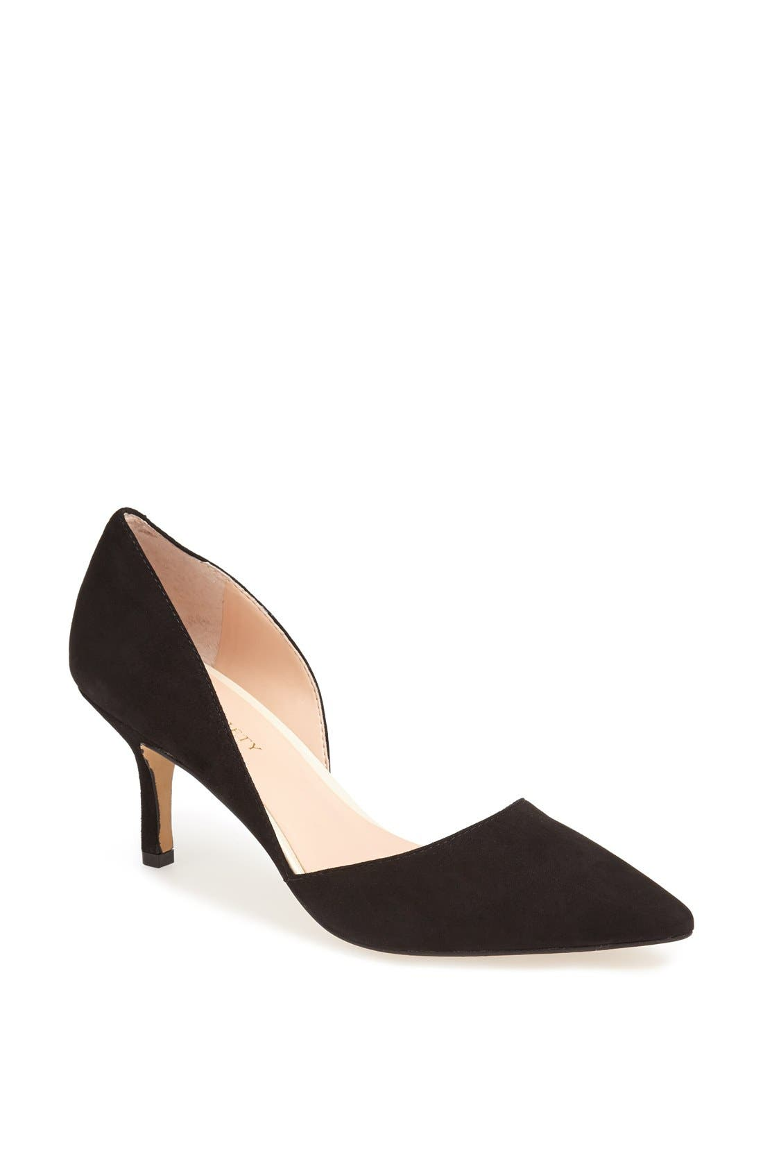 'Jenn' Pointy Toe Pump,                             Main thumbnail 1, color,                             001