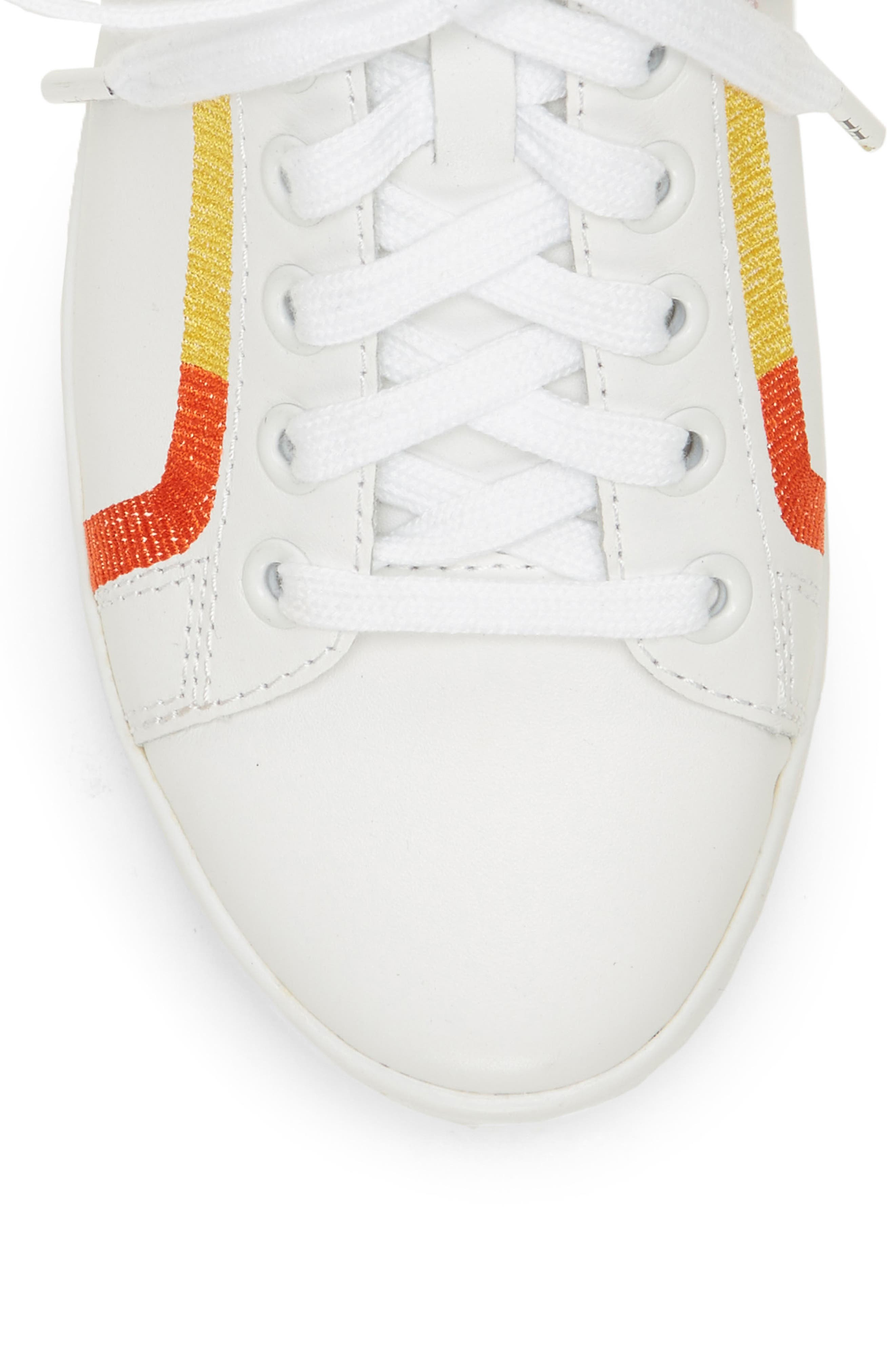 Costella Sneaker,                             Alternate thumbnail 5, color,                             PURE WHITE LEATHER