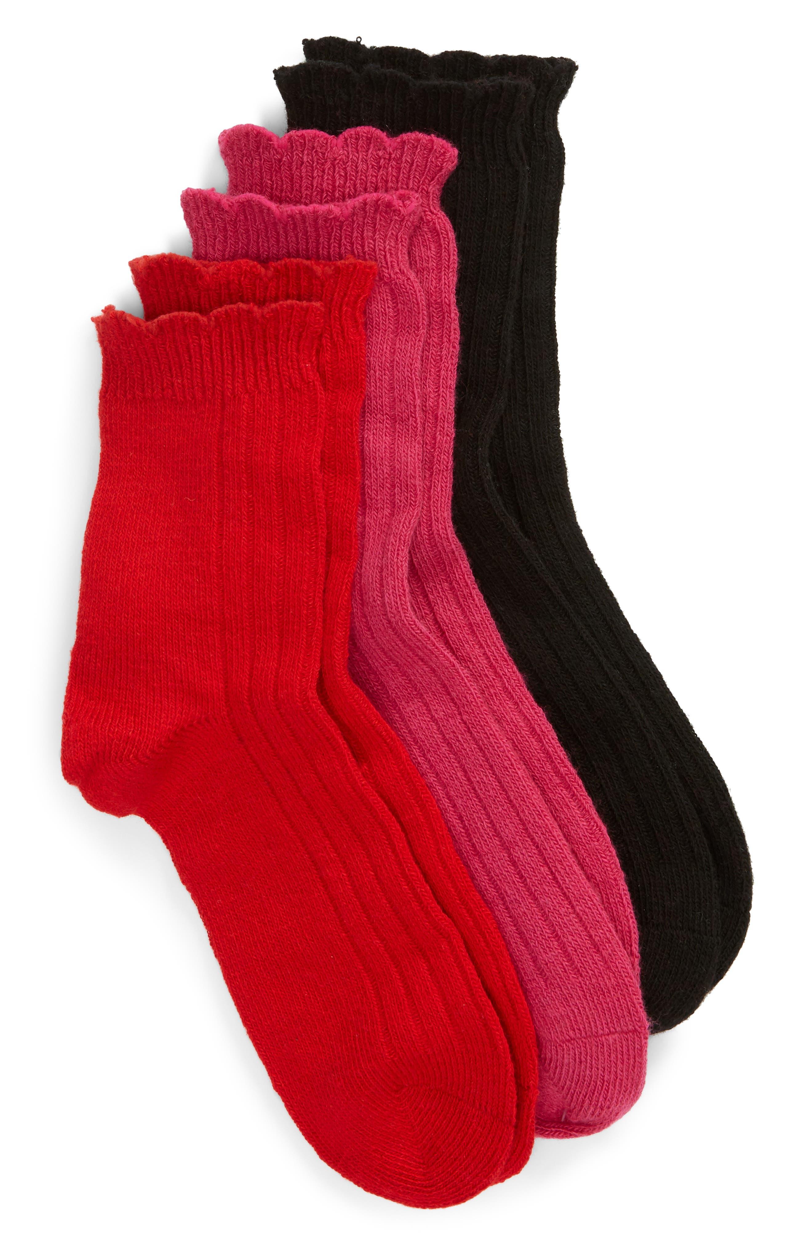 Assorted 3-Pack Crew Socks,                         Main,                         color, MULTI 2