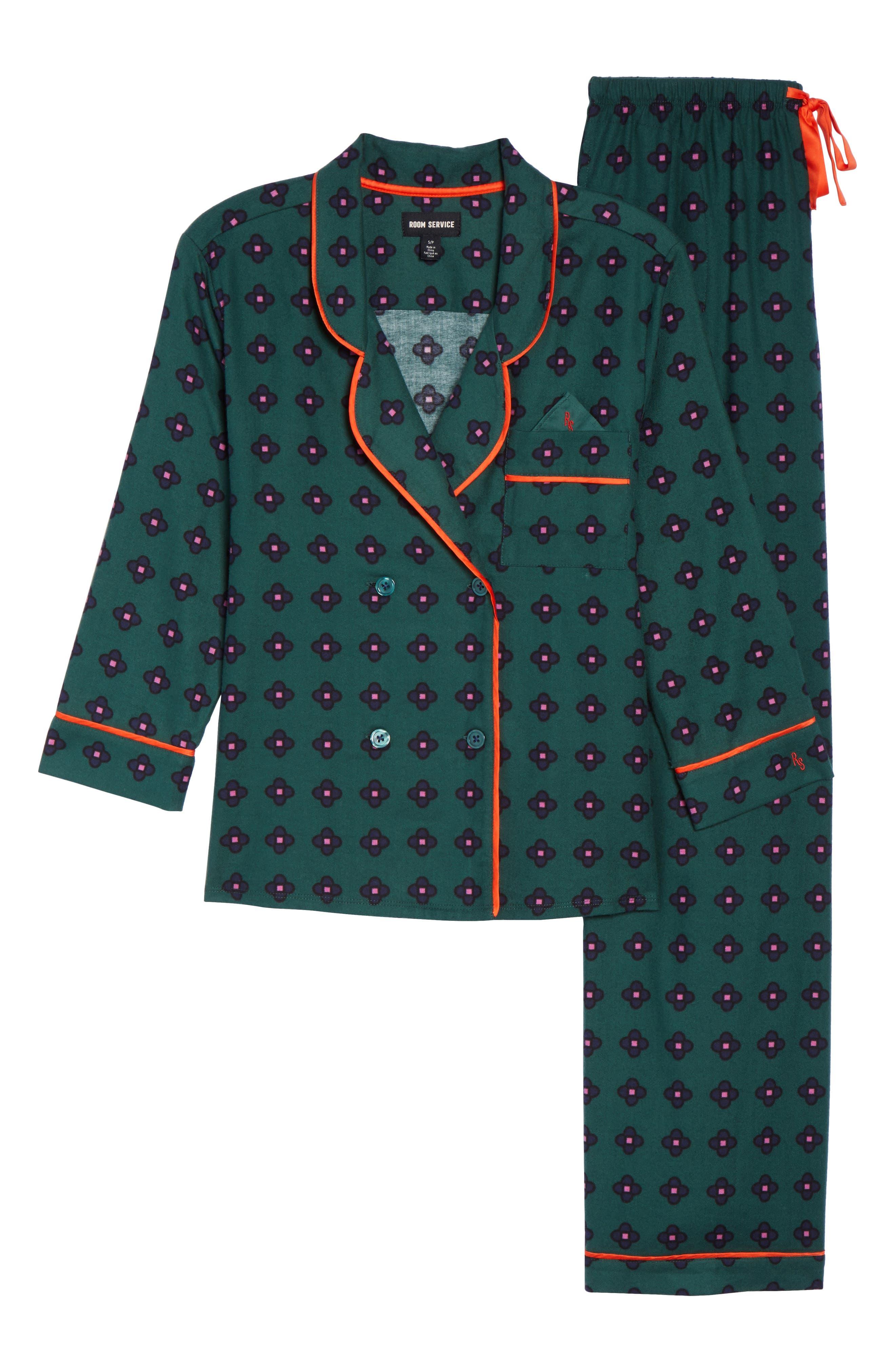 Flannel Pajamas,                             Alternate thumbnail 17, color,