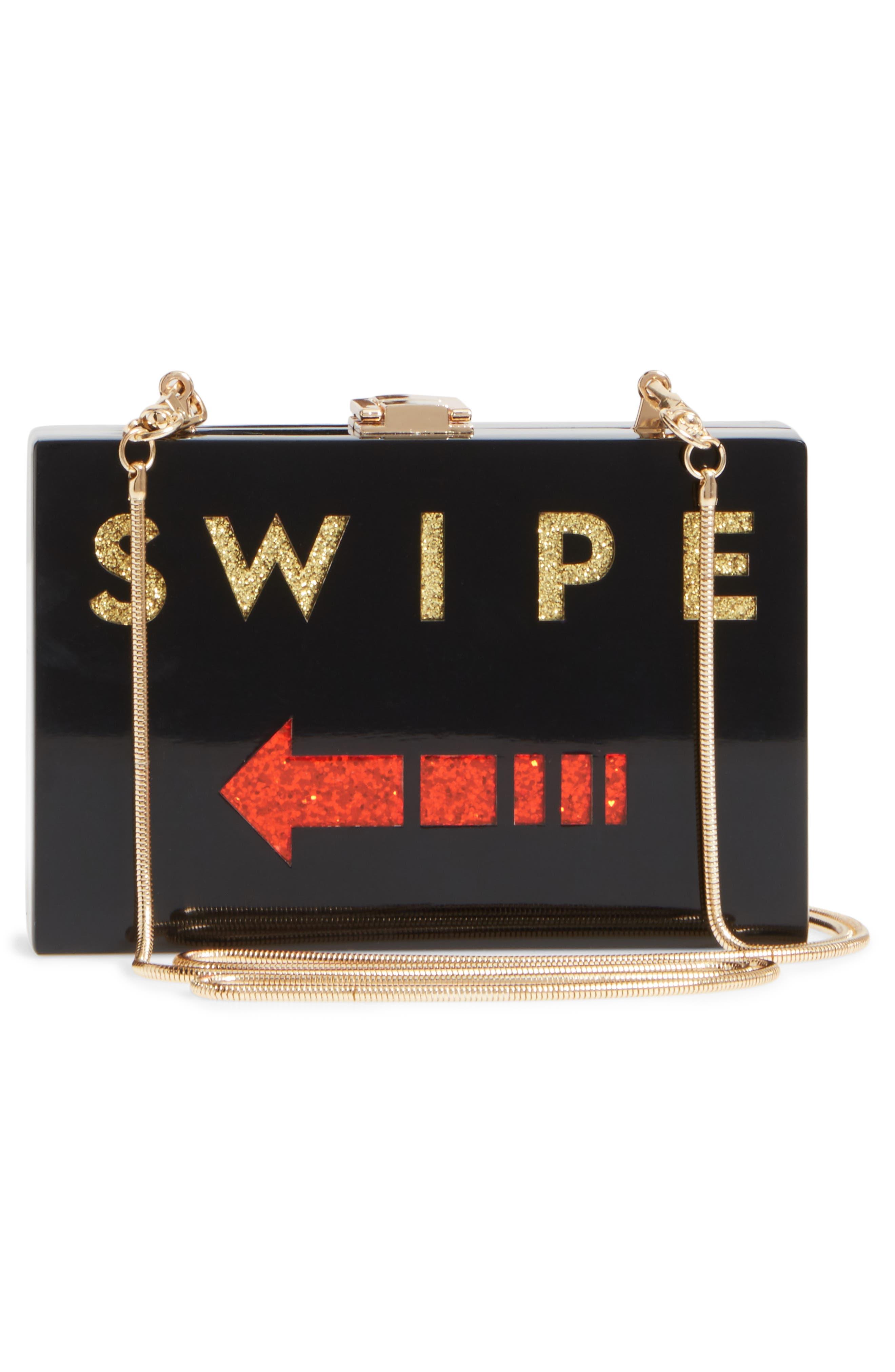 Swipe Box Clutch,                             Alternate thumbnail 3, color,