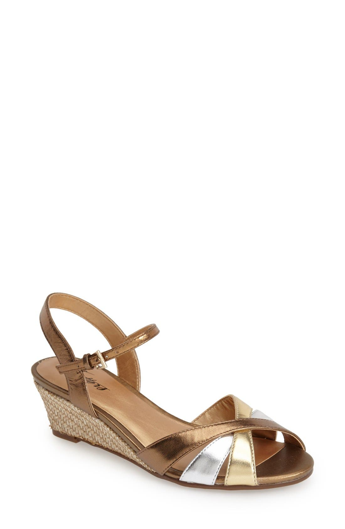 'Mickey' Wedge Sandal,                             Main thumbnail 5, color,