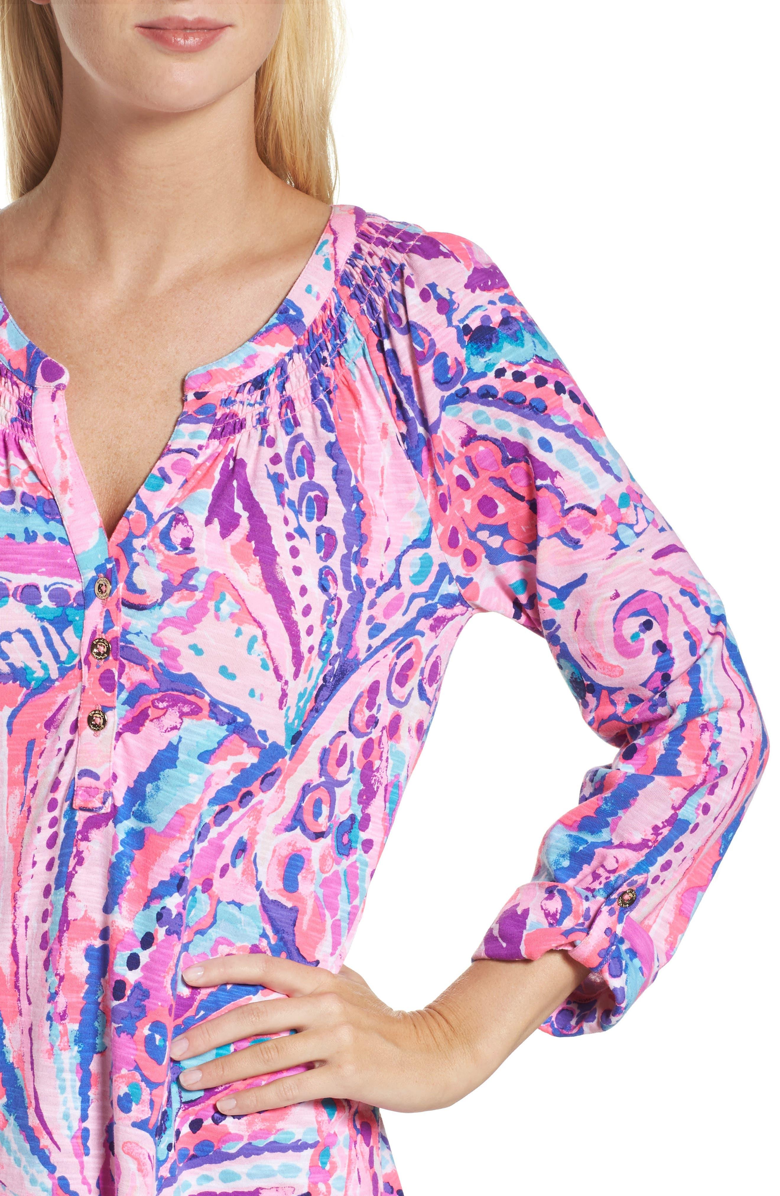 Essie Roll Sleeve Shift Dress,                             Alternate thumbnail 4, color,                             550