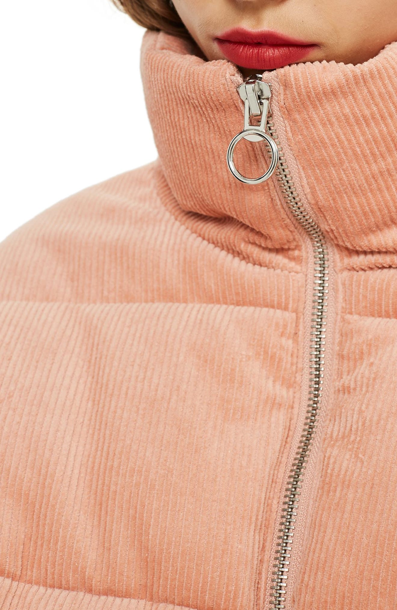 Corduroy Puffer Jacket,                             Alternate thumbnail 4, color,                             650
