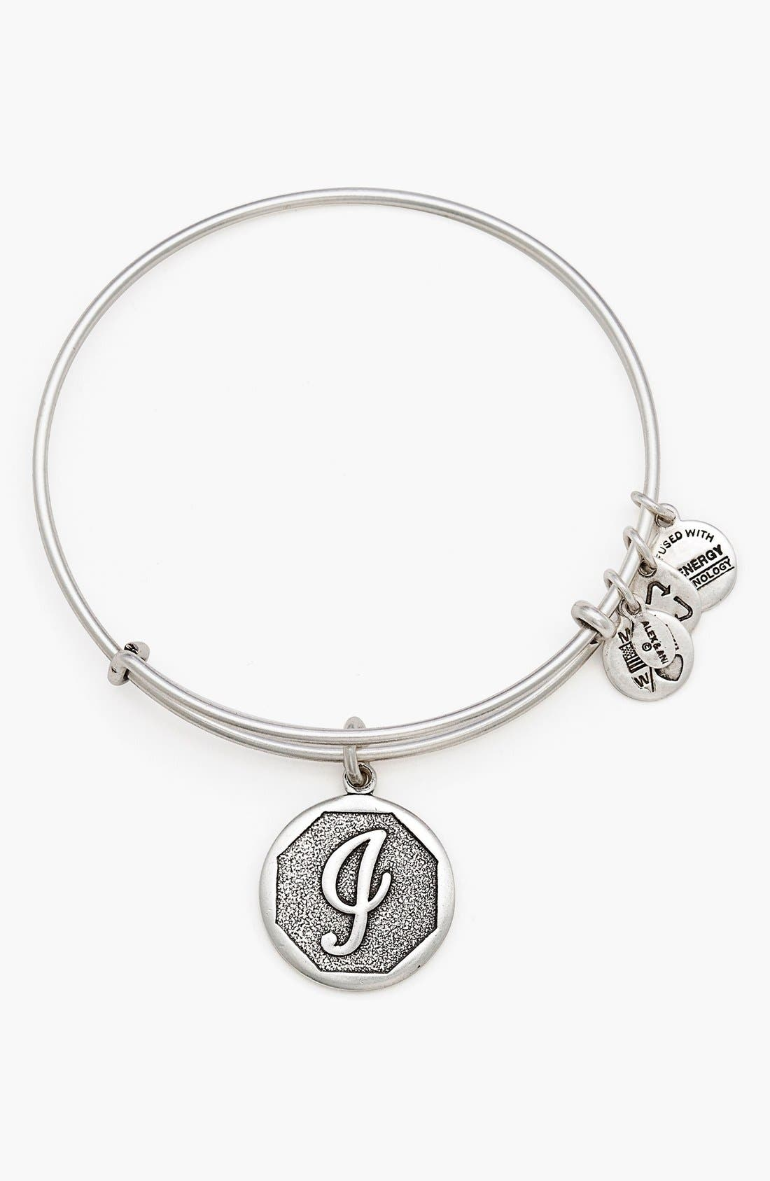 'Initial' Adjustable Wire Bangle,                             Main thumbnail 10, color,