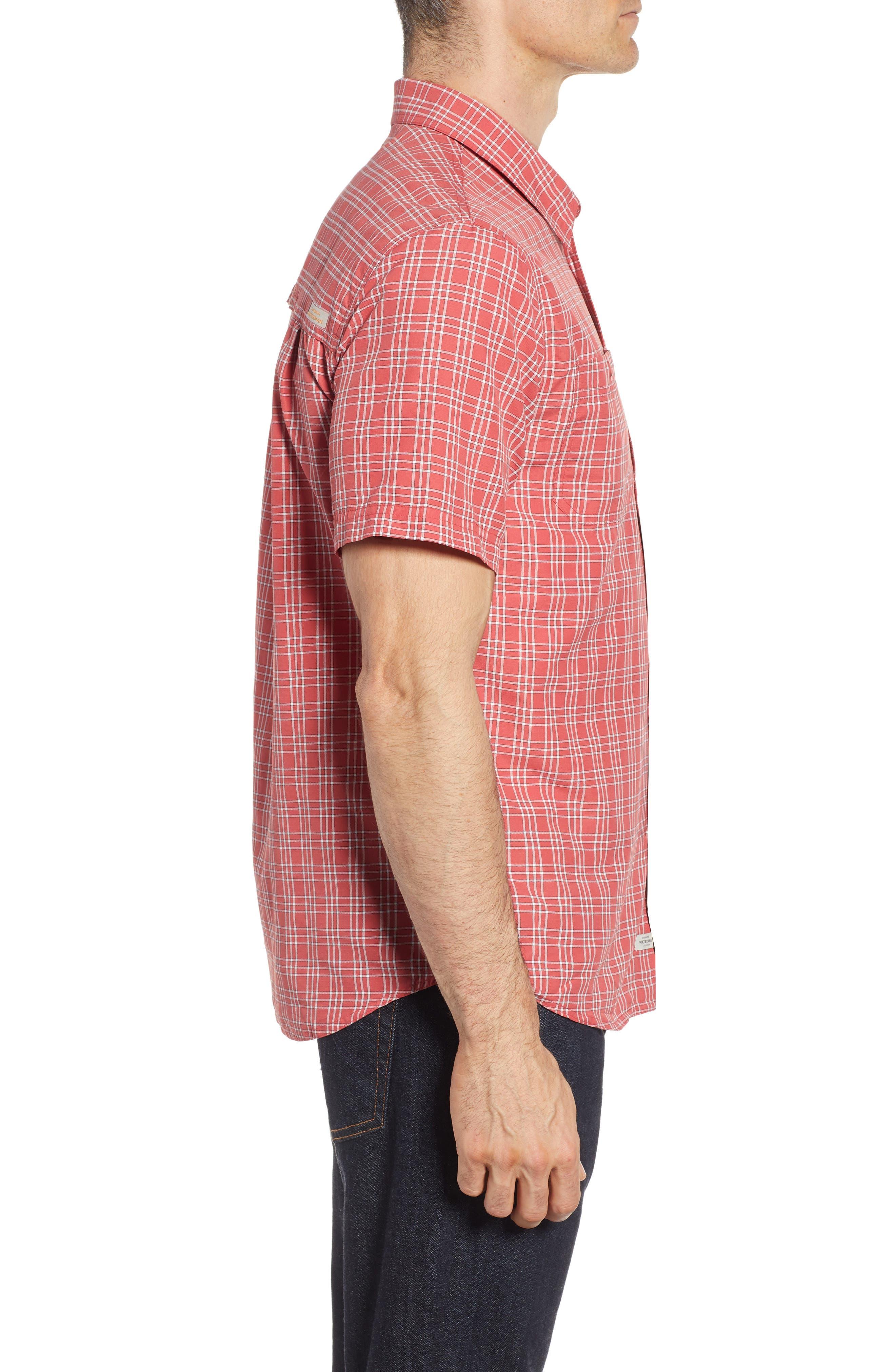 Wake Plaid Regular Fit Performance Sport Shirt,                             Alternate thumbnail 3, color,                             600