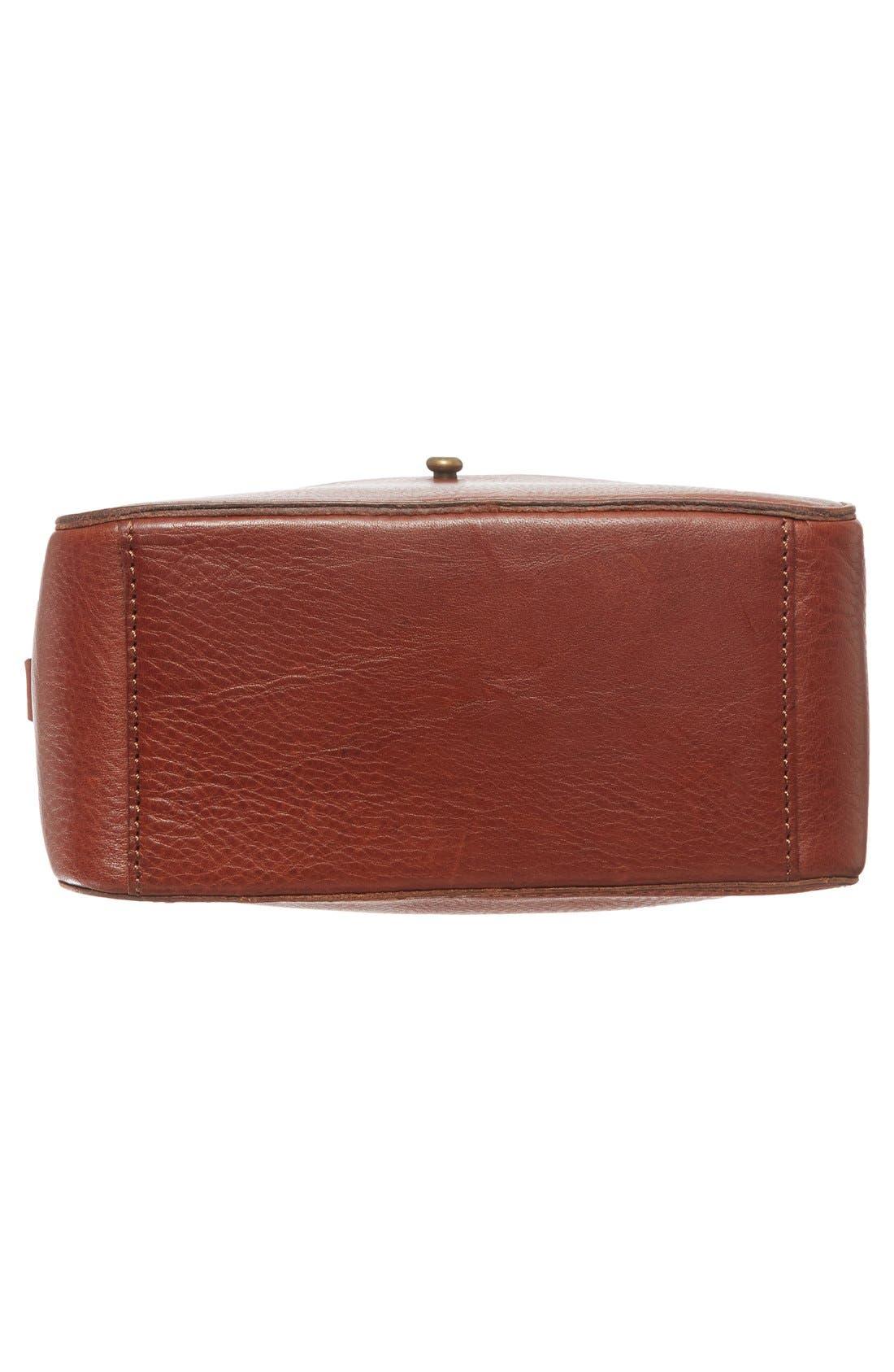 Leather Camera Bag,                             Alternate thumbnail 4, color,                             200