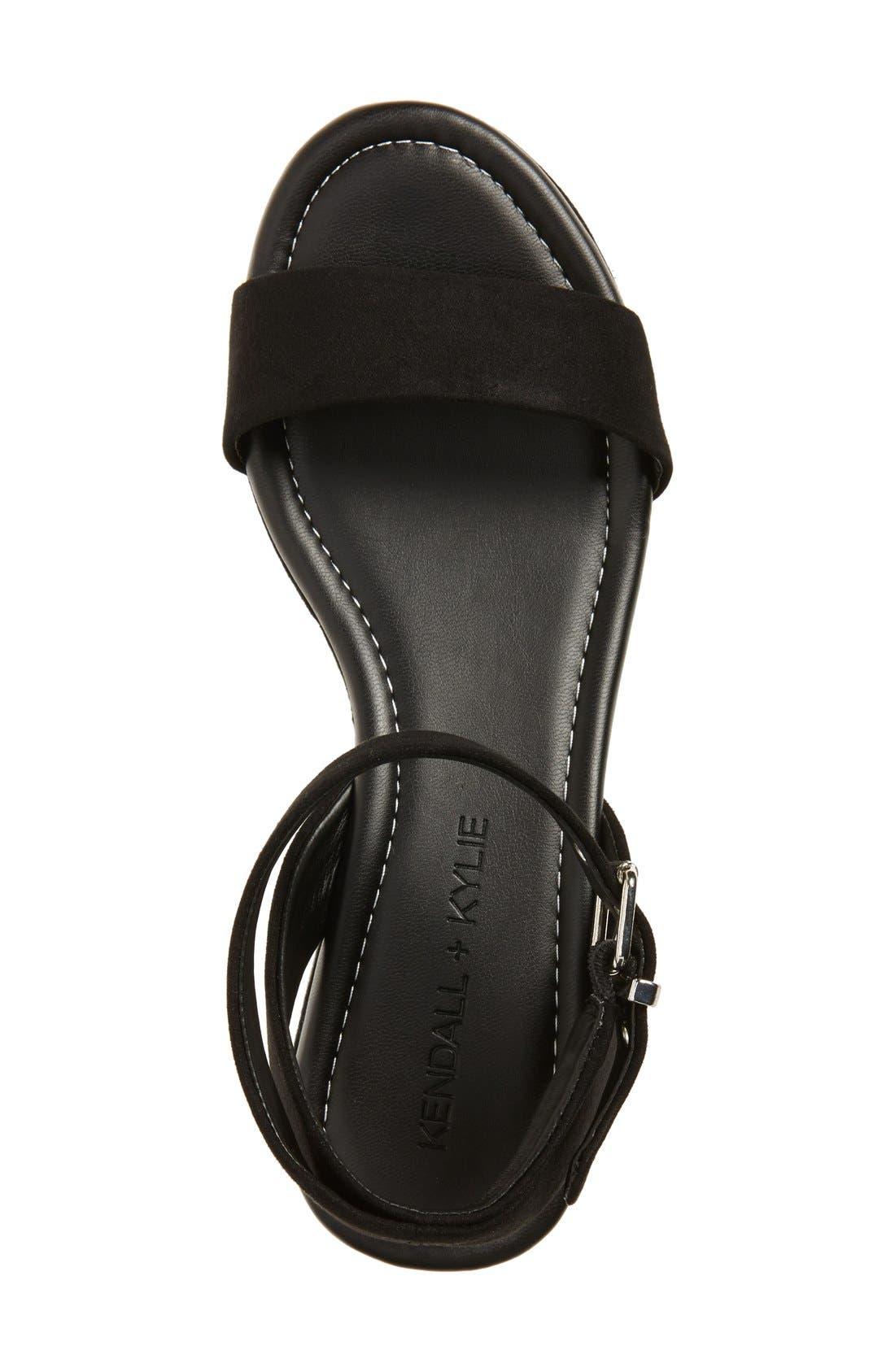 'Demi' Platform Sandal,                             Alternate thumbnail 4, color,                             001