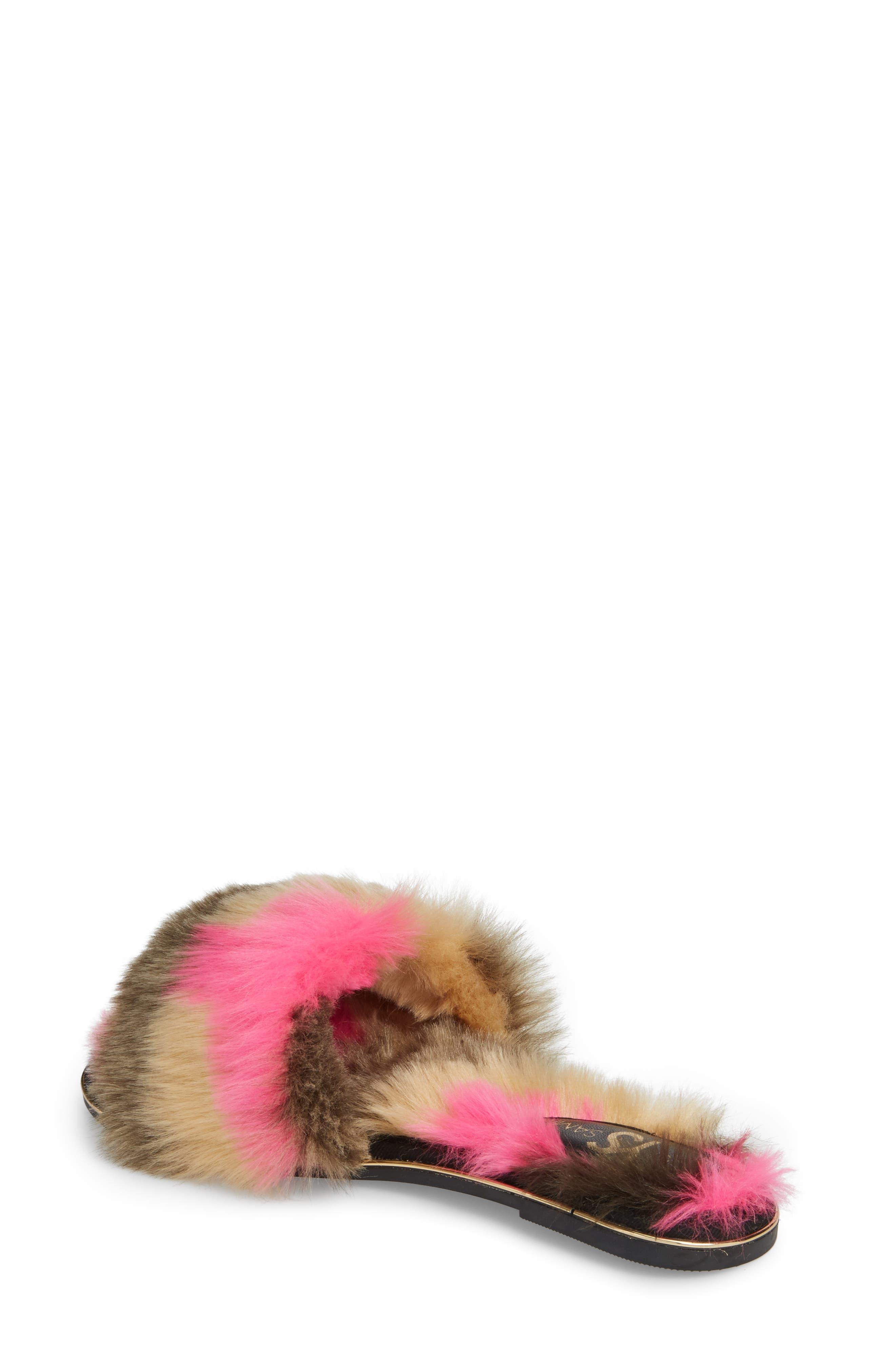 YOSI SAMRA,                             Rose Faux Fur Slide Sandal,                             Alternate thumbnail 2, color,                             030