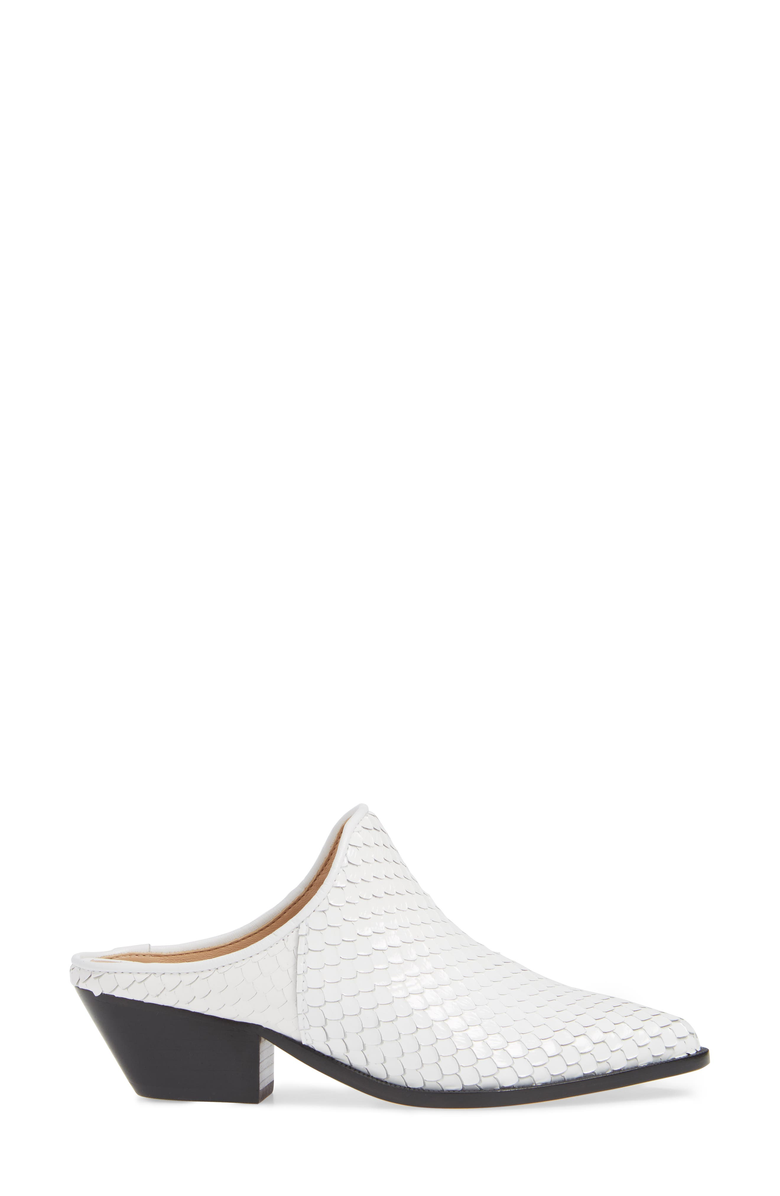 Leanny Mule,                             Alternate thumbnail 3, color,                             WHITE LEATHER
