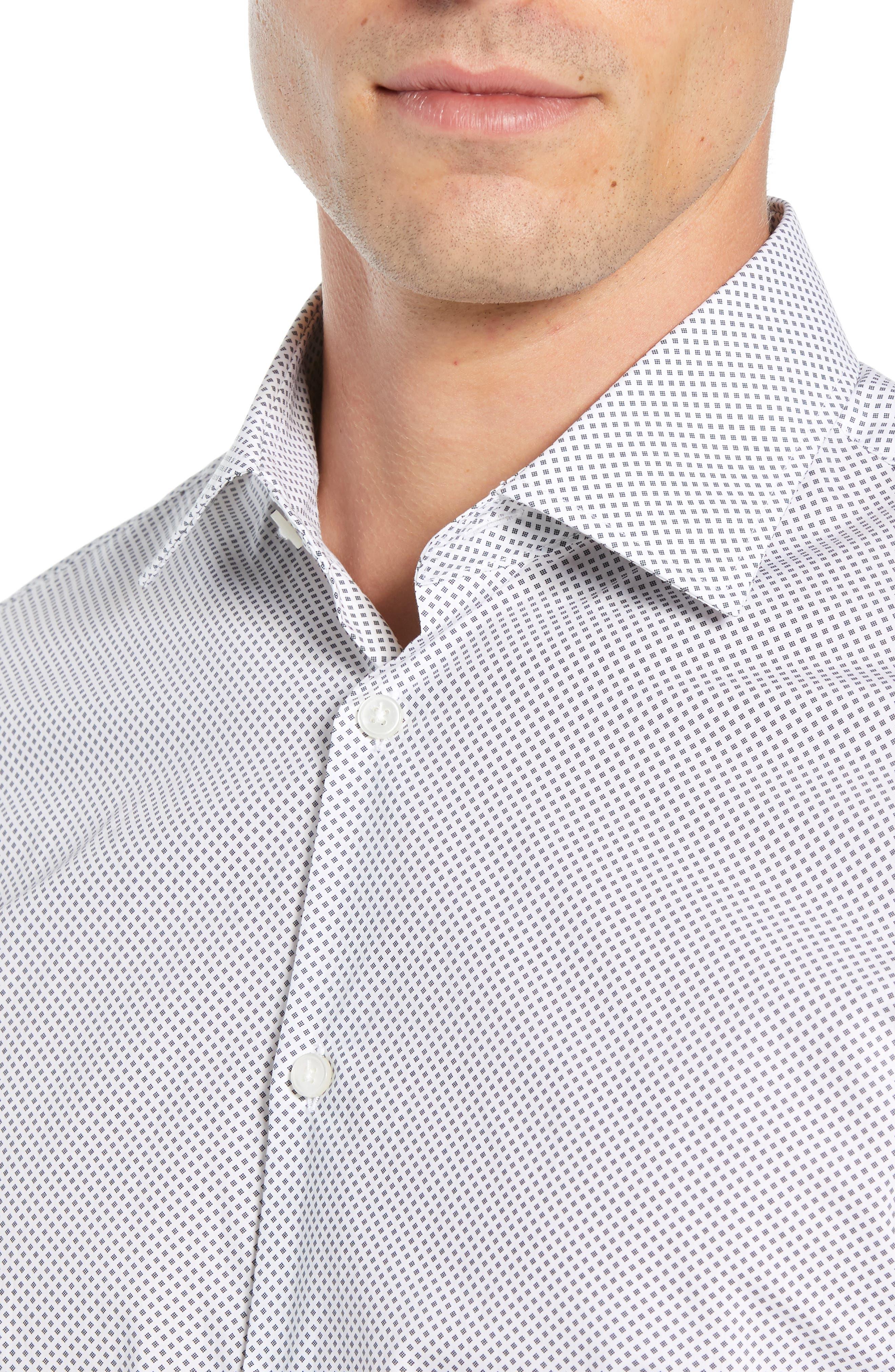 Regular Fit Geometric Dress Shirt,                             Alternate thumbnail 2, color,                             THUNDER GREY
