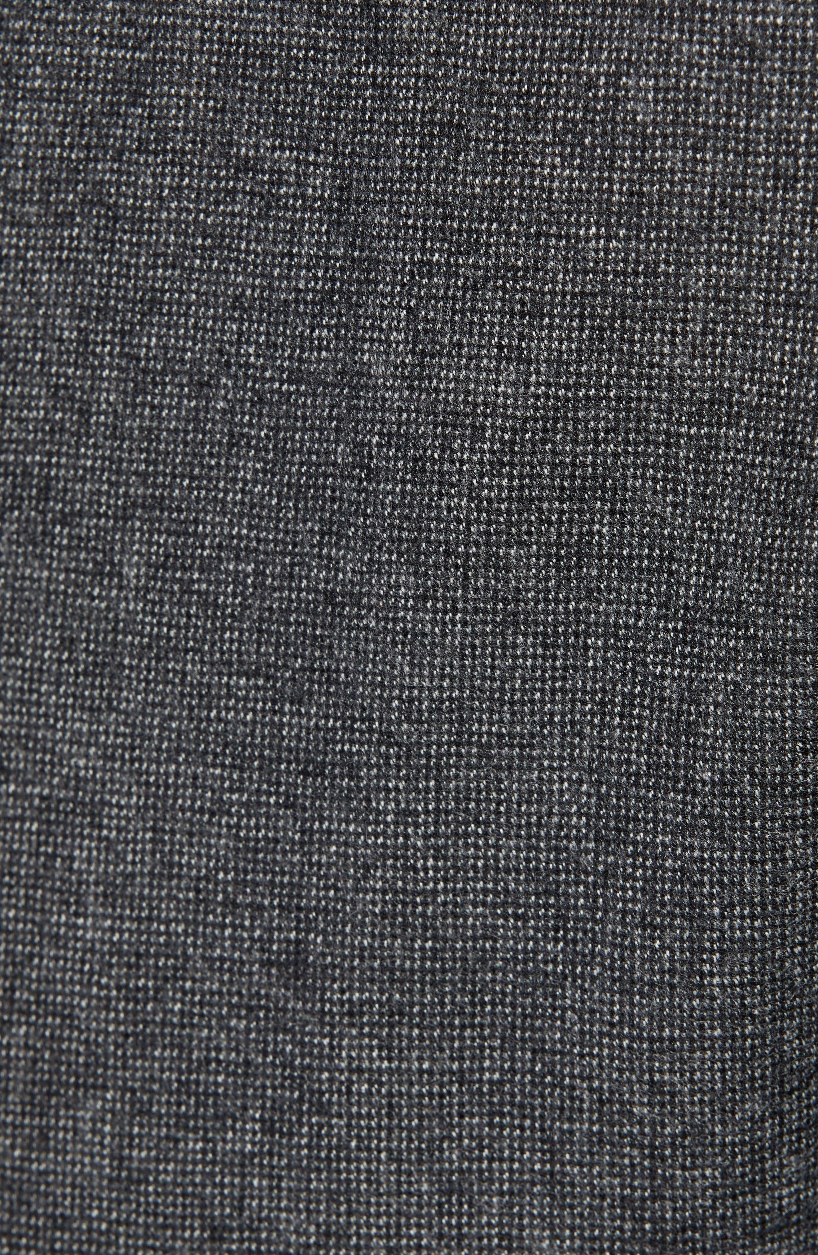 Cadiz Five Pocket Stretch Wool Trousers,                             Alternate thumbnail 5, color,                             GRAPHITE
