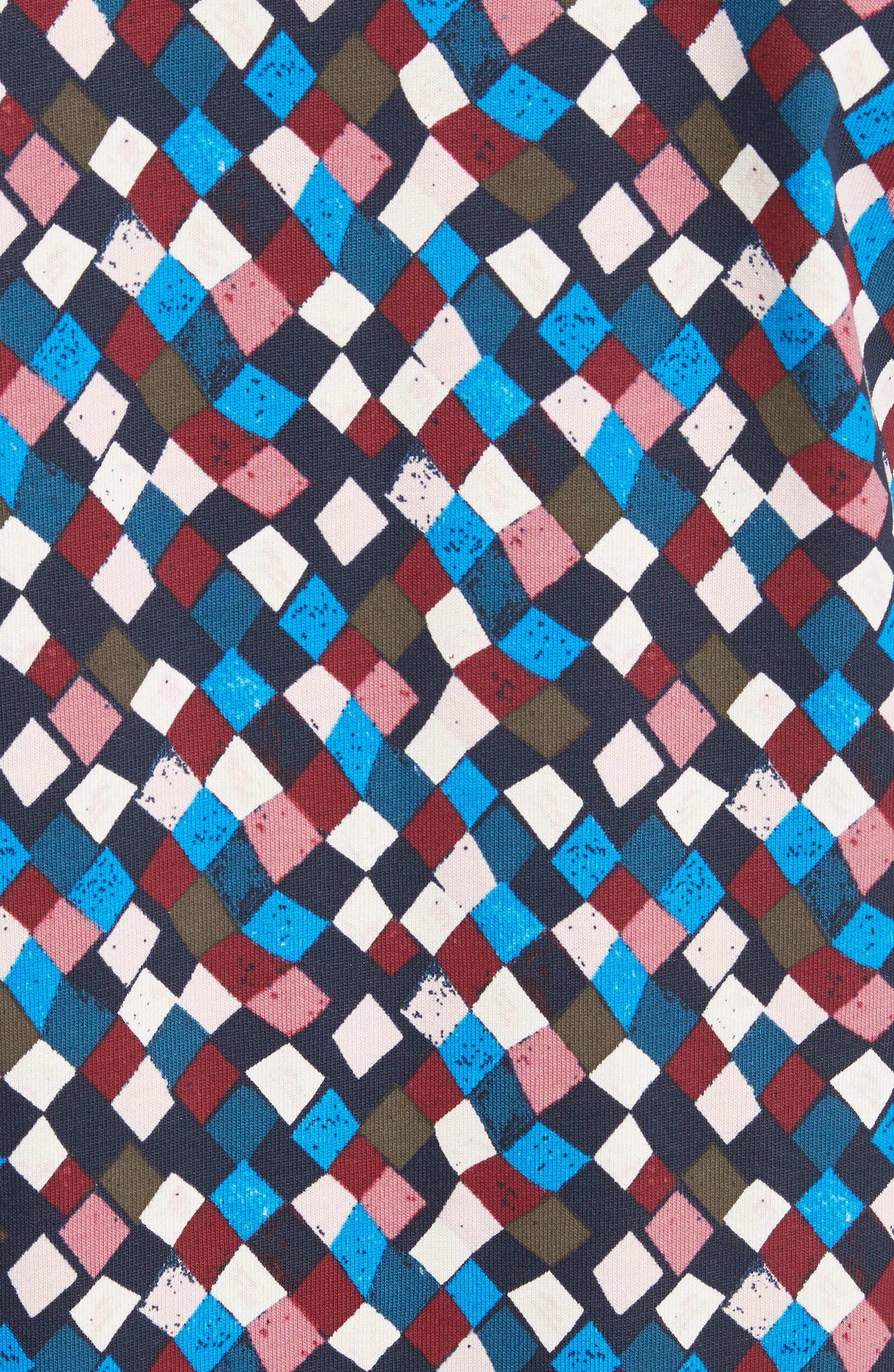 Maggie Print Cotton Shift Dress,                             Alternate thumbnail 5, color,                             487