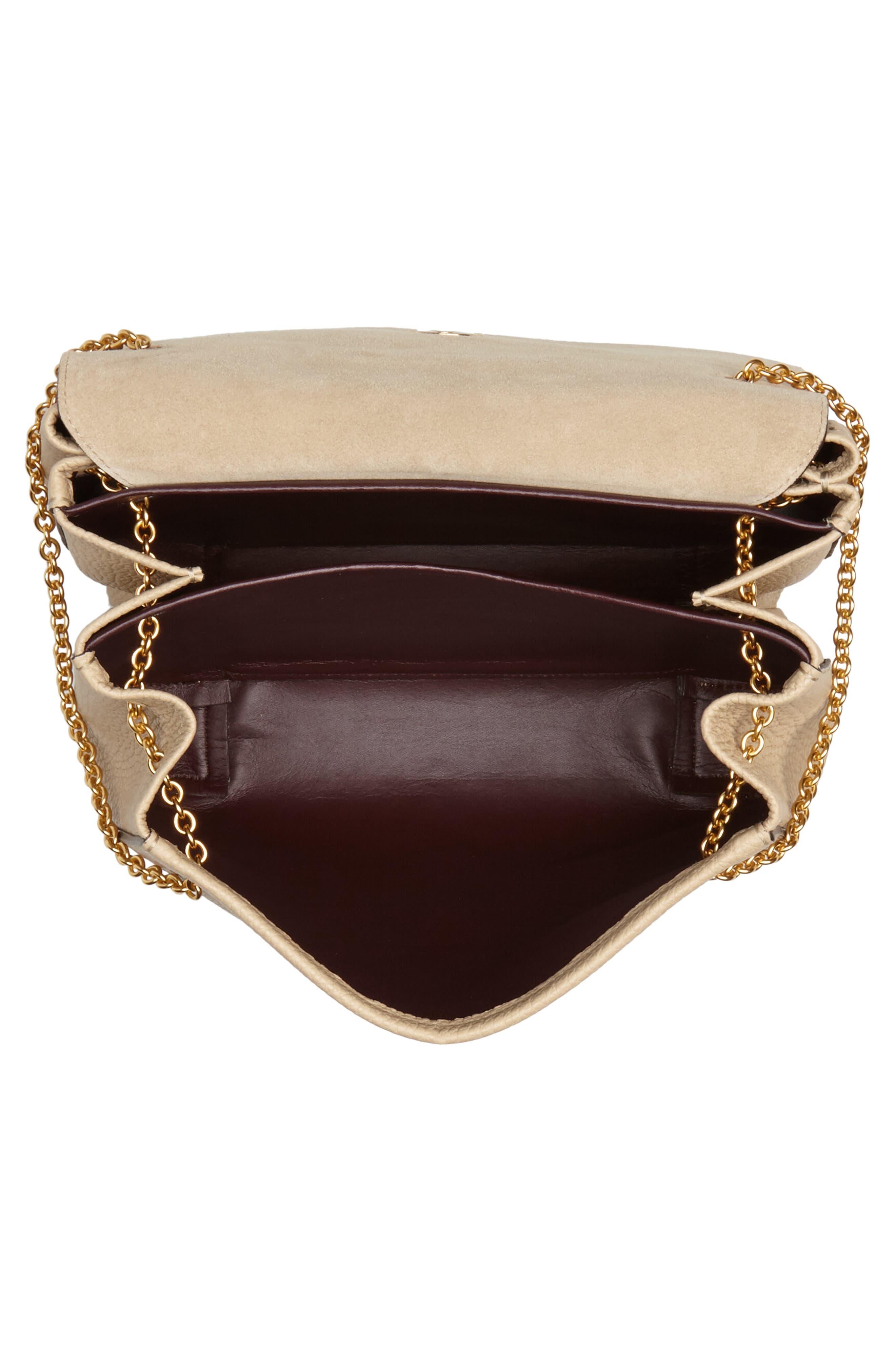 Marloes Grained Calfskin Leather Satchel,                             Alternate thumbnail 4, color,                             LIGHT DUNE
