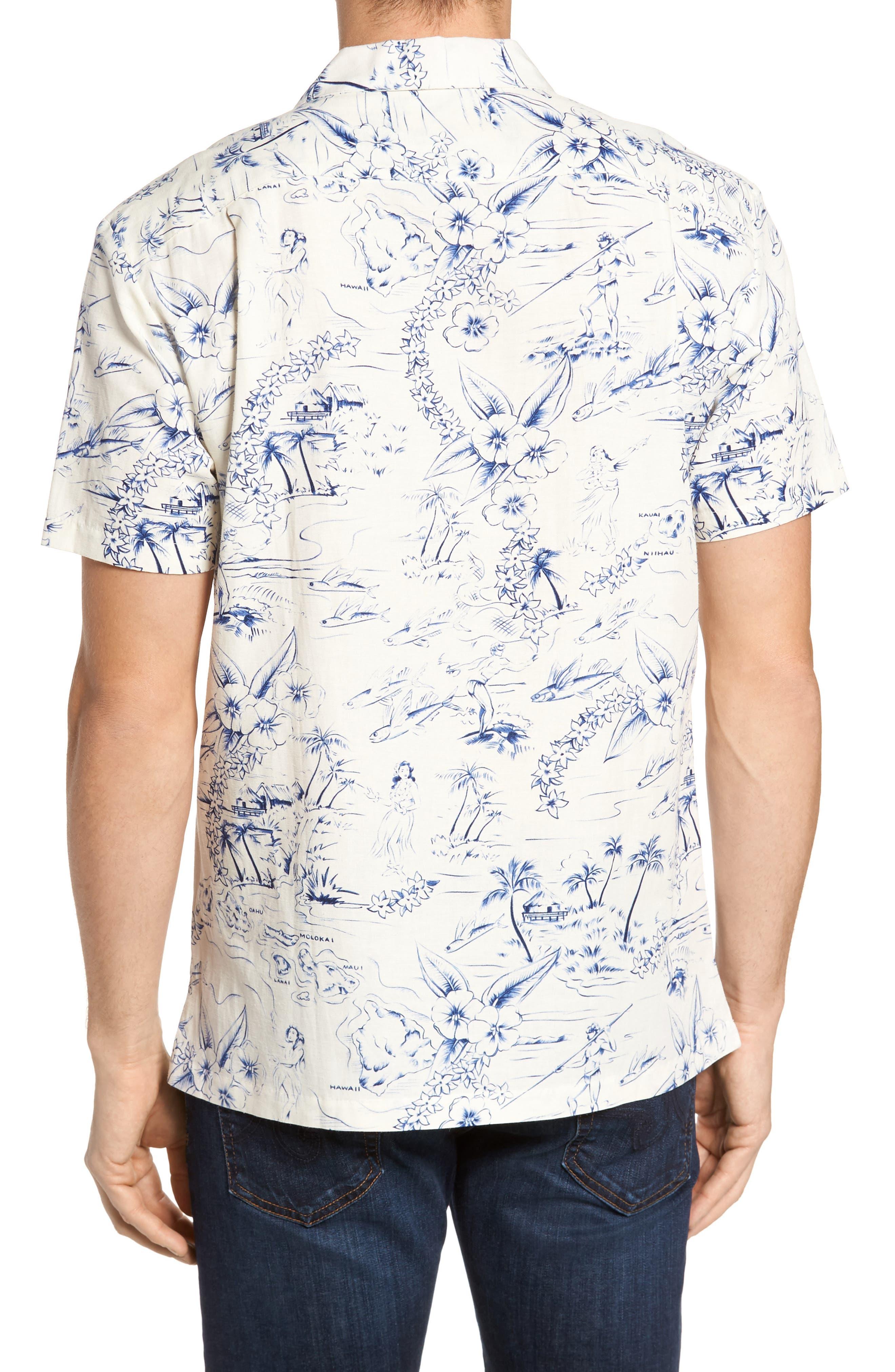 Konohiki Slim Fit Print Sport Shirt,                             Alternate thumbnail 2, color,                             102