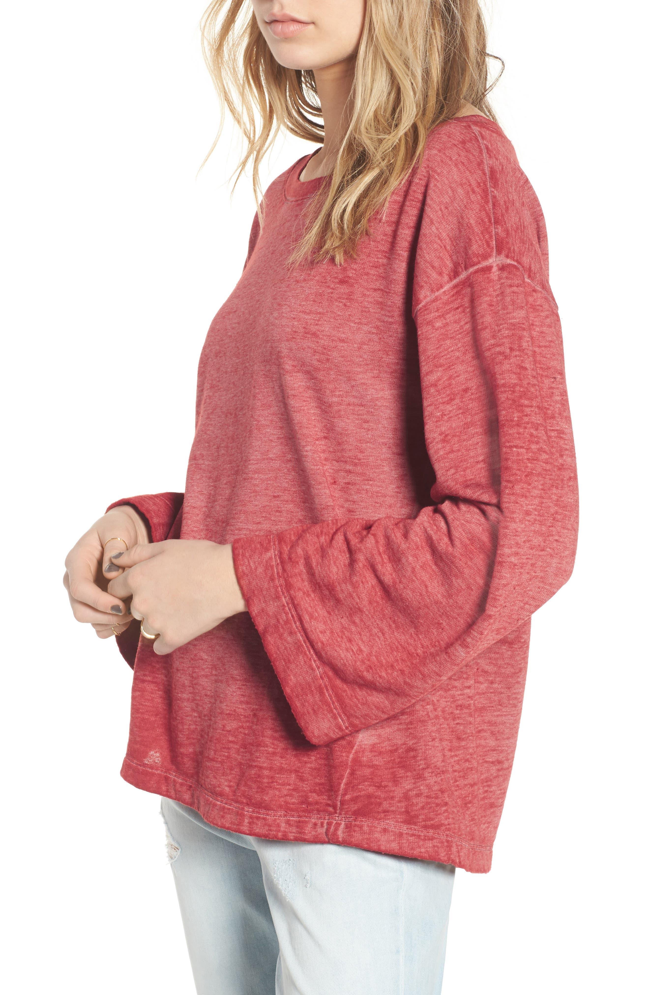 Bell Sleeve Sweatshirt,                             Main thumbnail 2, color,