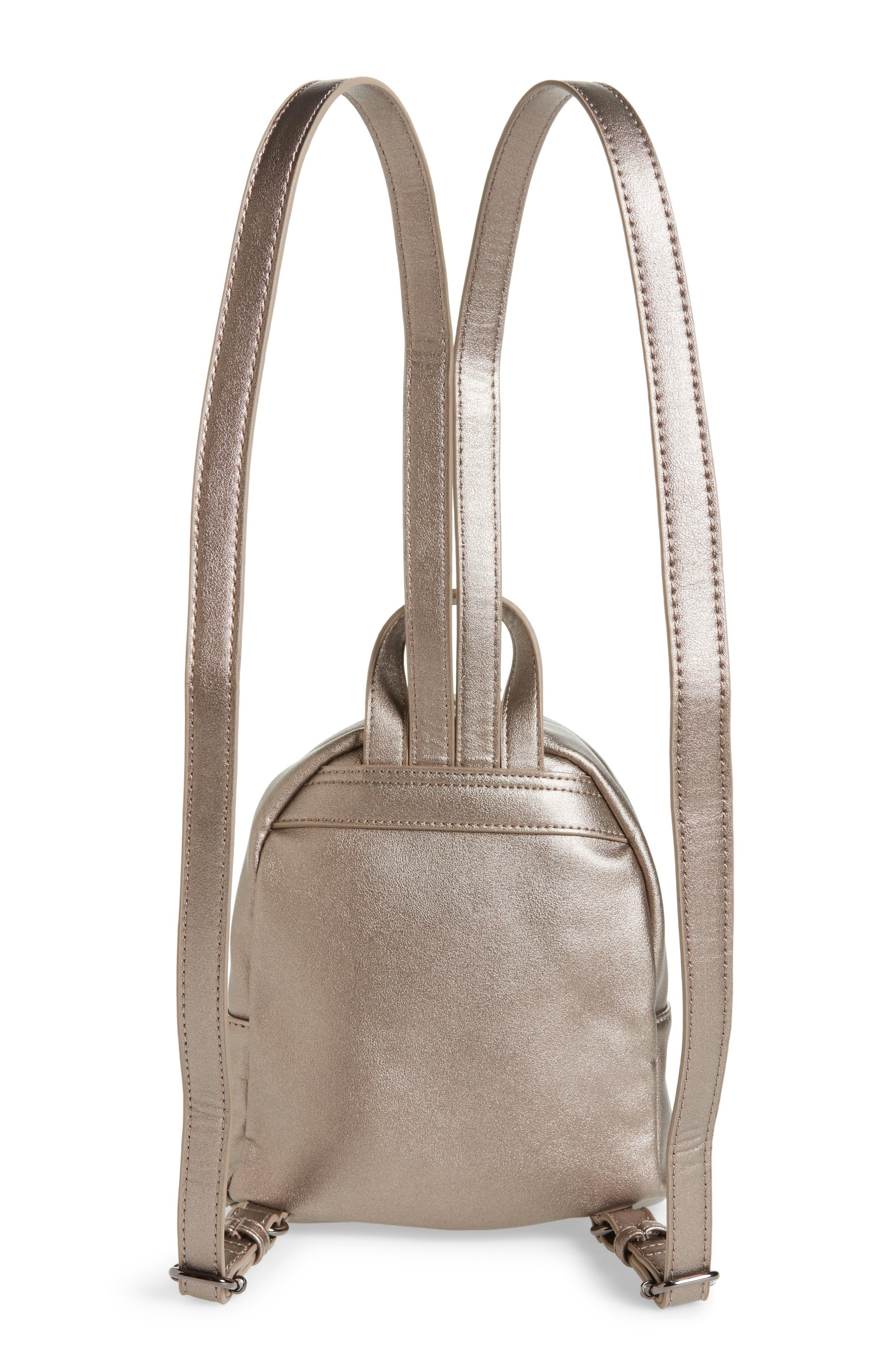 Faux Leather Mini Backpack,                             Alternate thumbnail 18, color,