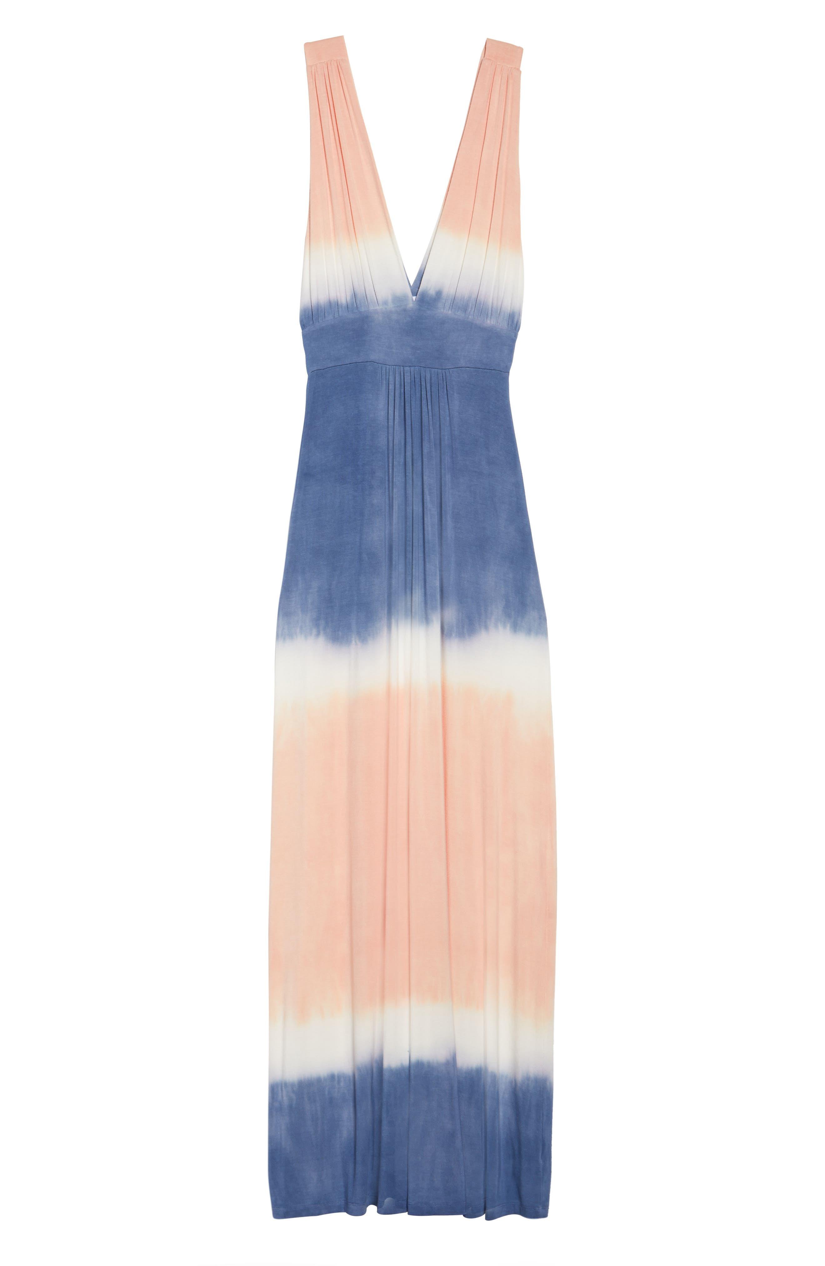 Tie Dye Sleeveless Maxi Dress,                             Alternate thumbnail 7, color,                             400