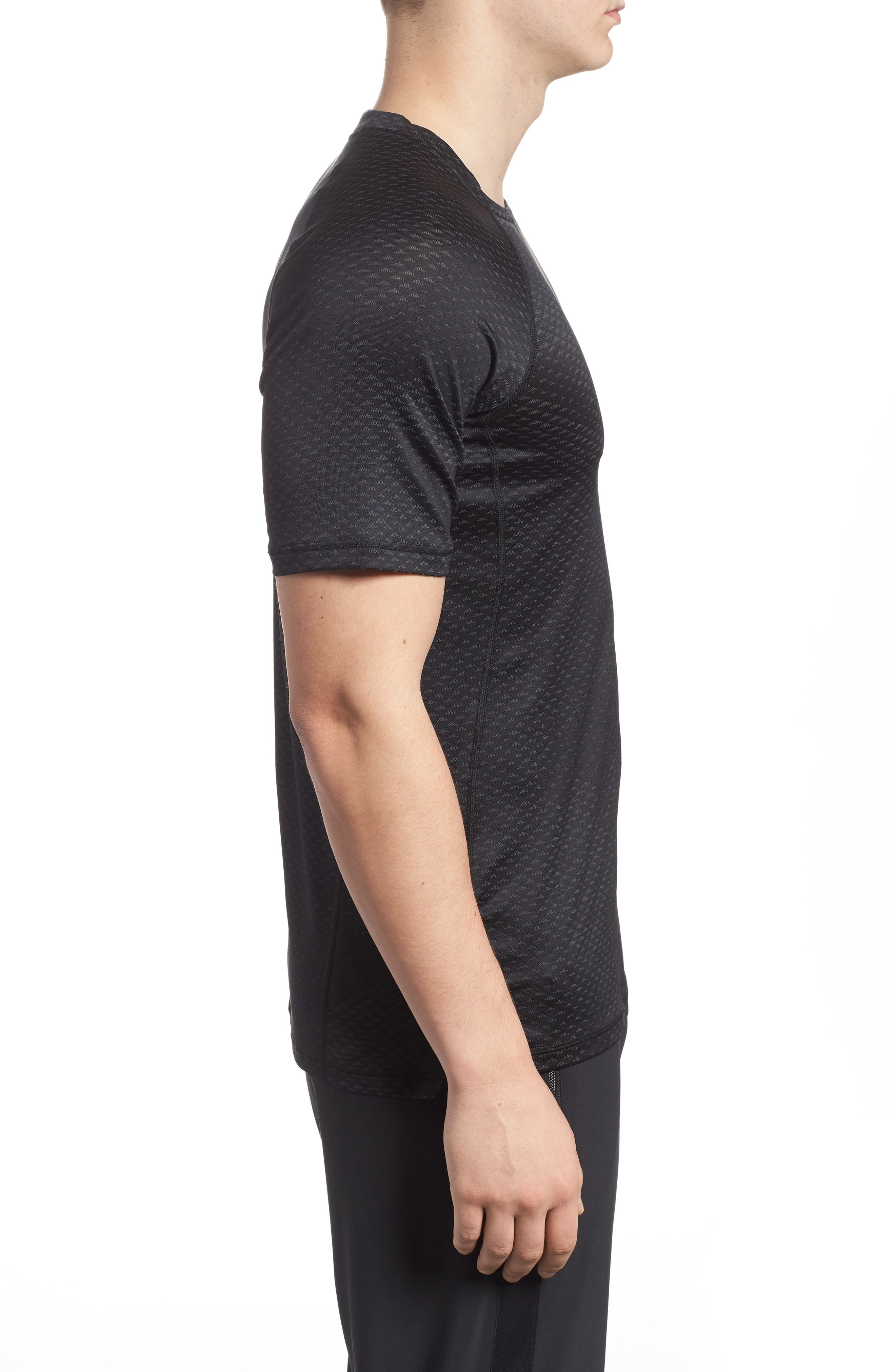 Pro HyperCool Fitted Crewneck T-Shirt,                             Alternate thumbnail 3, color,                             010