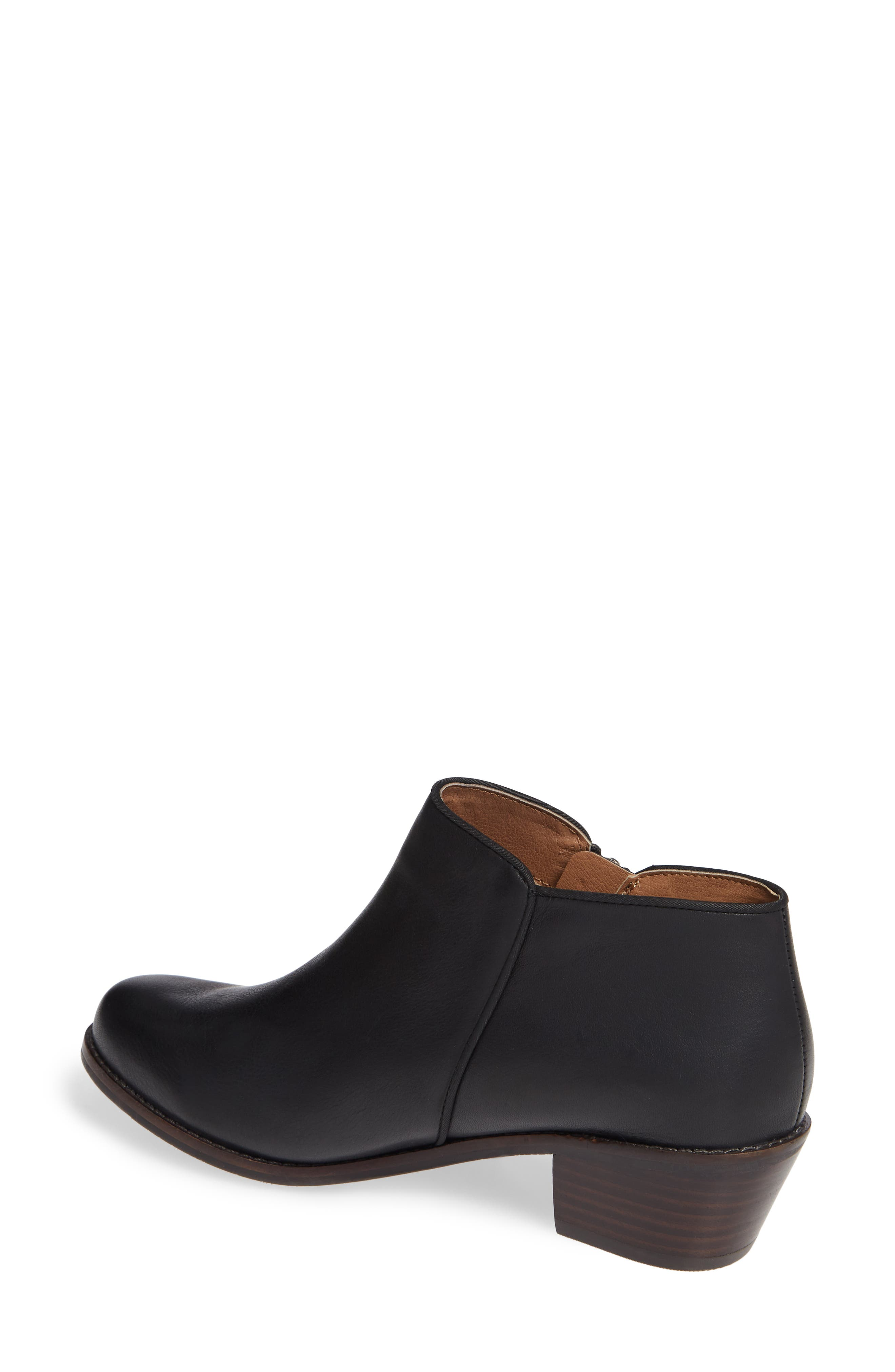 Jolene Bootie,                             Alternate thumbnail 2, color,                             BLACK LEATHER