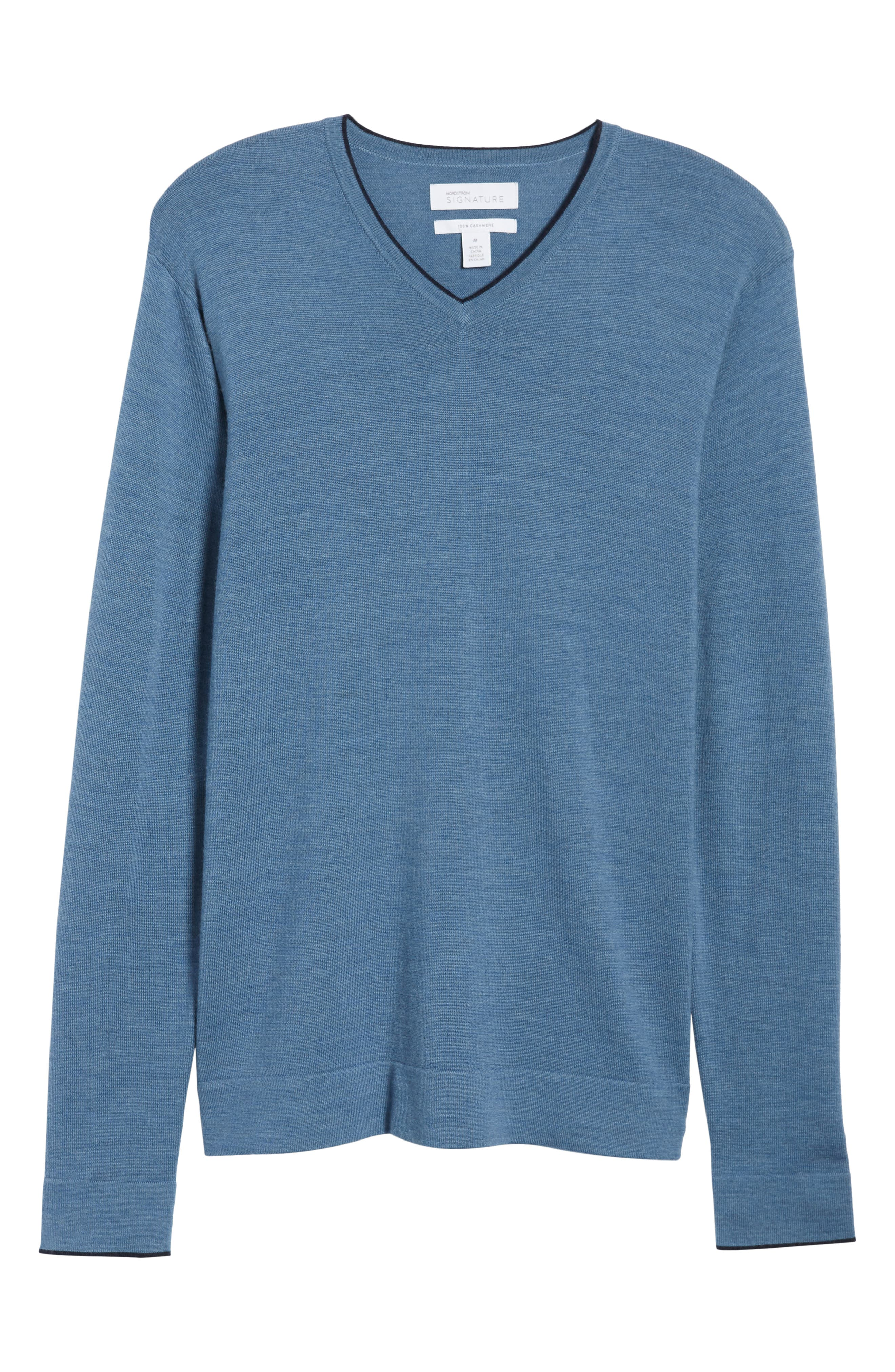 Nordstrom Signature Merino Wool Blend V-Neck Sweater