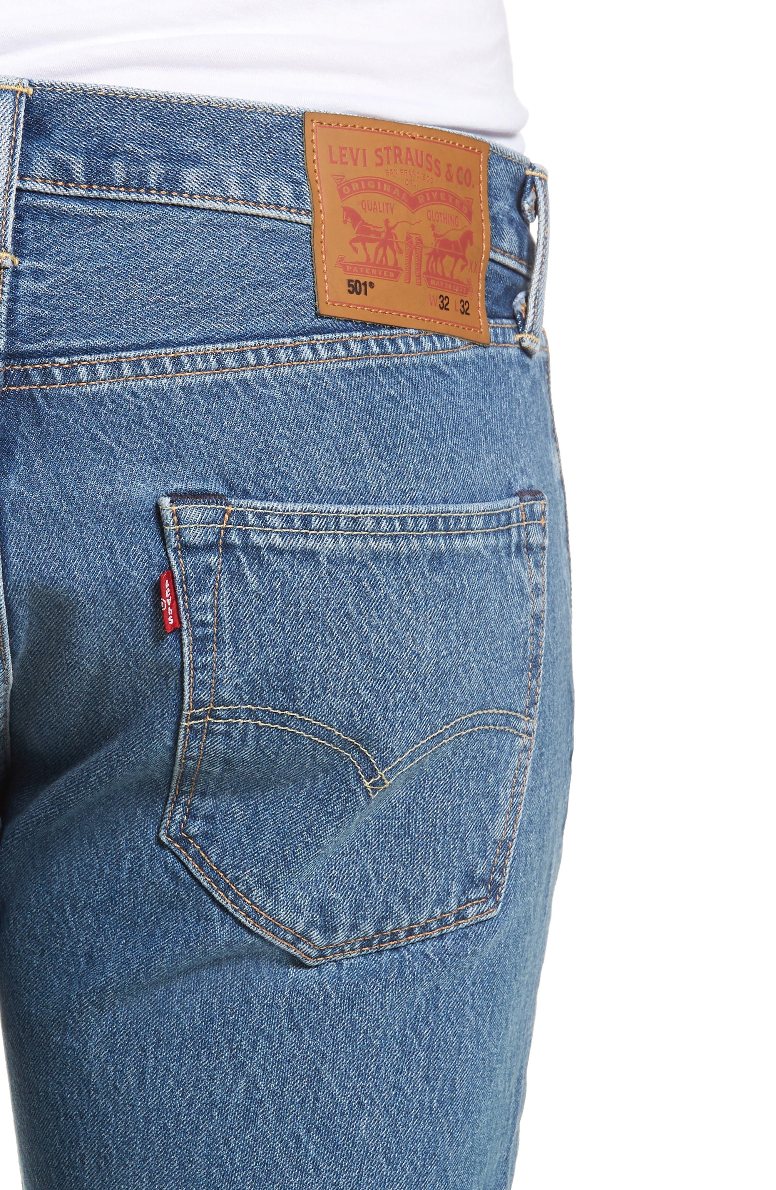 501<sup>™</sup> Straight Leg Jeans,                             Alternate thumbnail 4, color,