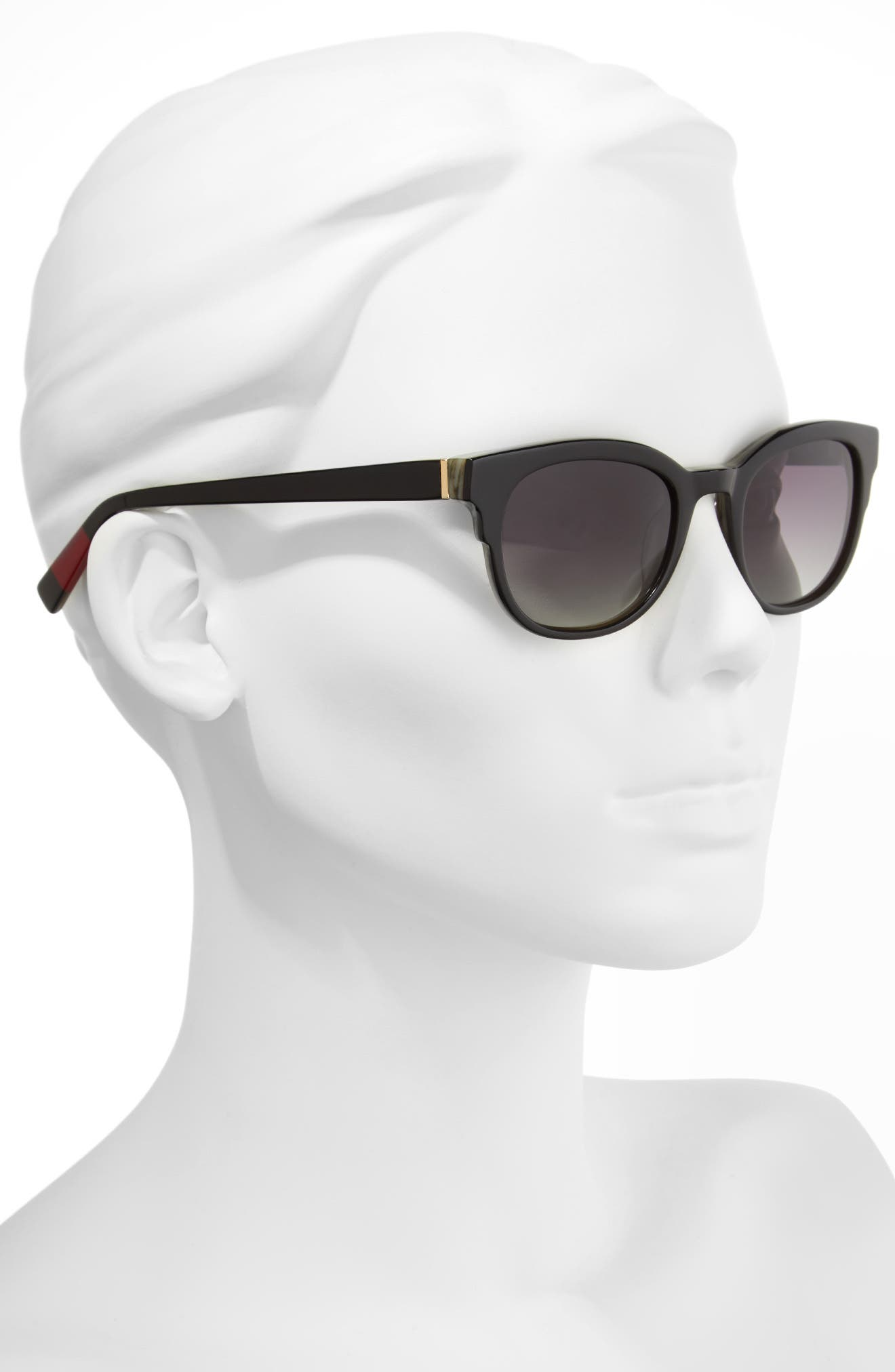 48mm Gradient Sunglasses,                             Alternate thumbnail 2, color,                             BLACK