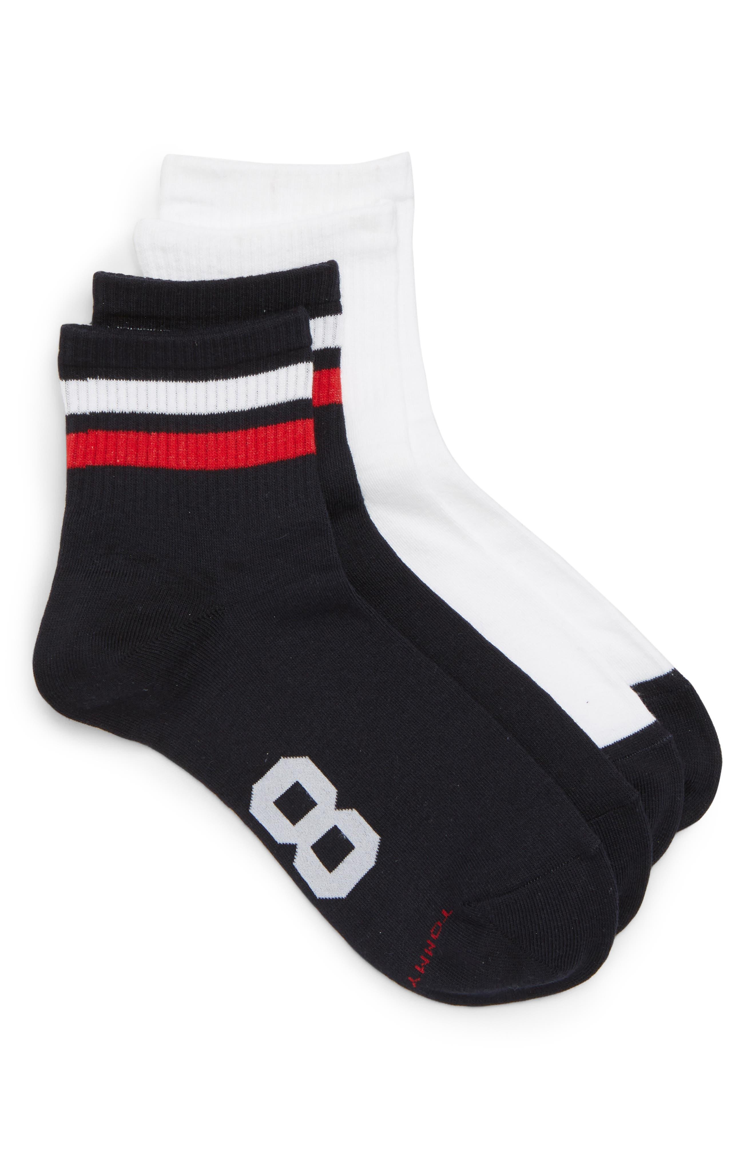 2-Pack Logo '85 Ankle Socks,                         Main,                         color, WHITE MULTI