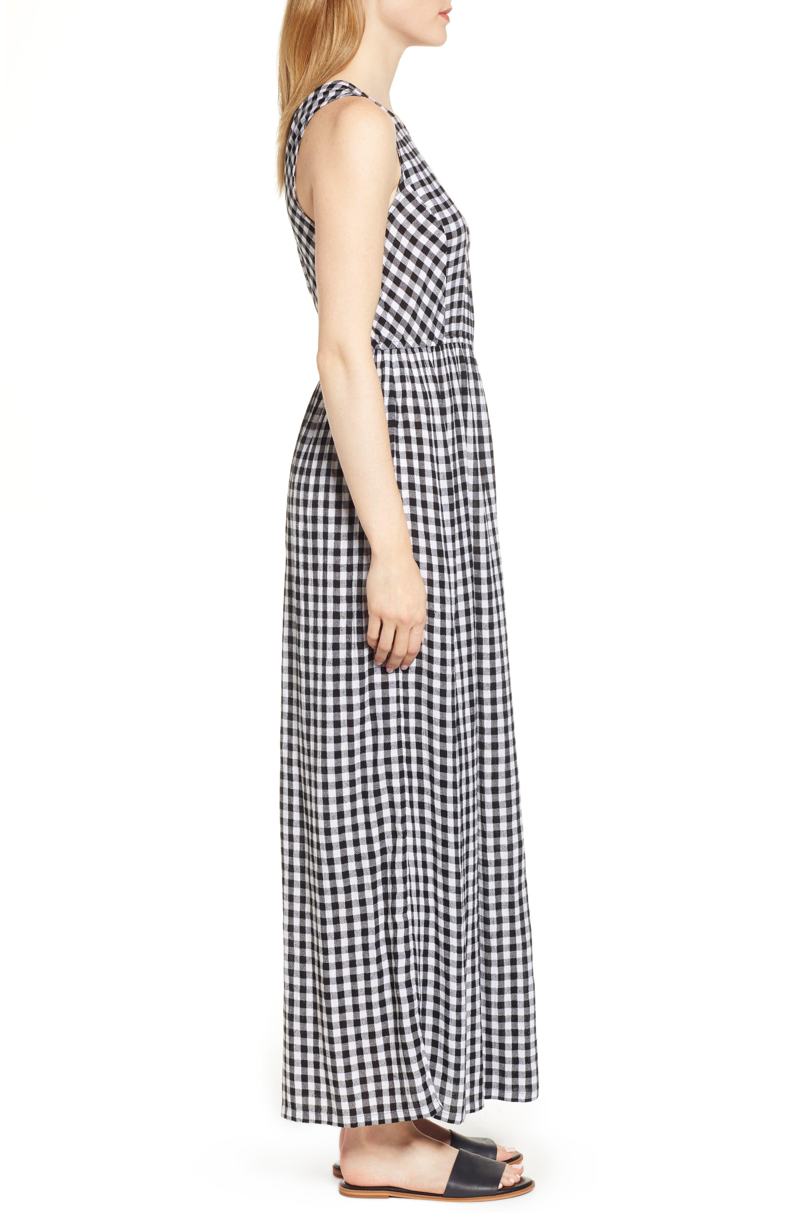 Smocked Back Maxi Dress,                             Alternate thumbnail 3, color,                             002