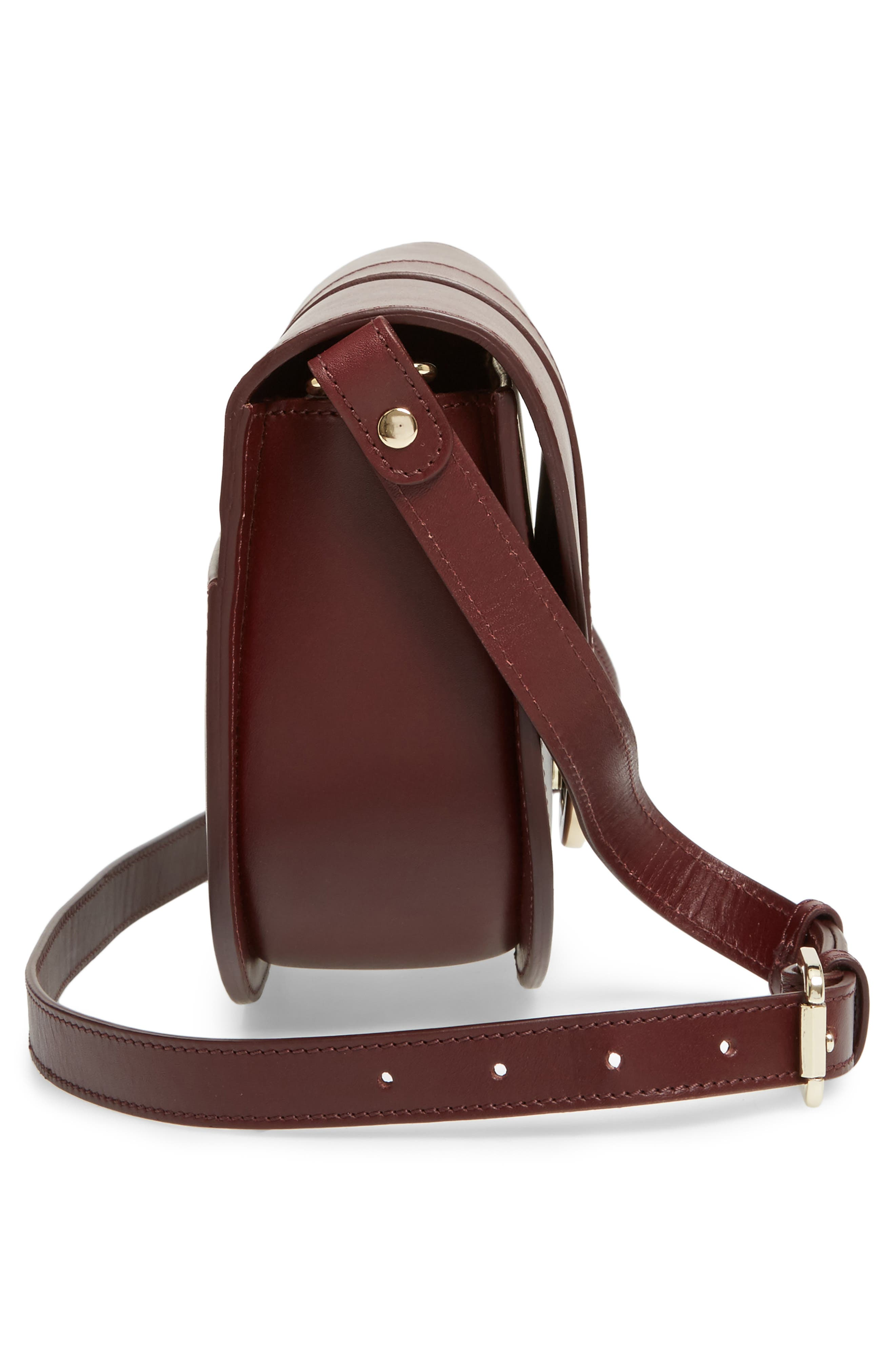 Soho Calfskin Leather Saddle Bag,                             Alternate thumbnail 5, color,                             600