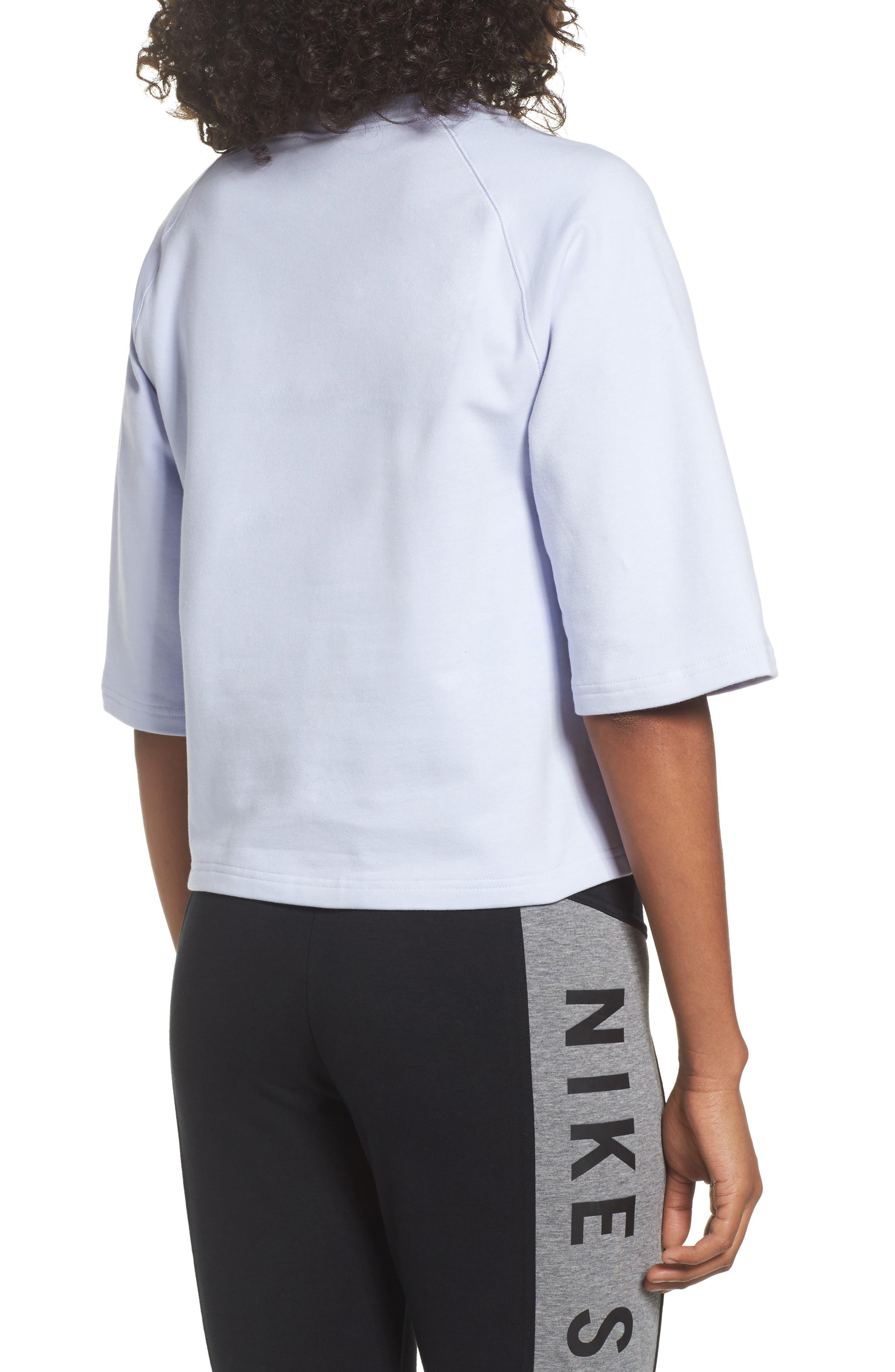 NikeLab Essential Fleece Top,                             Alternate thumbnail 9, color,
