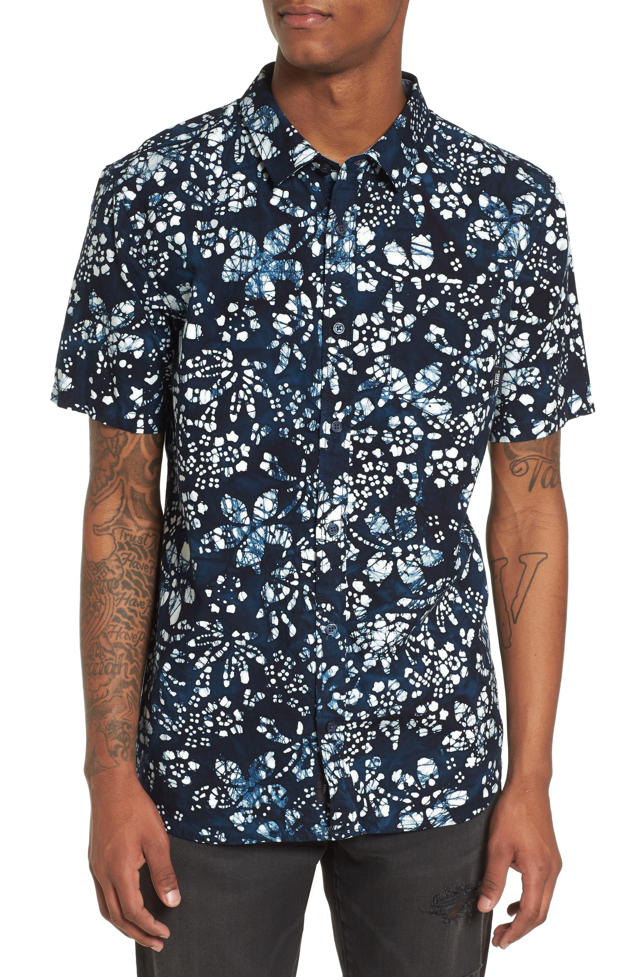 Trippin Batik Woven Shirt,                         Main,                         color, 400