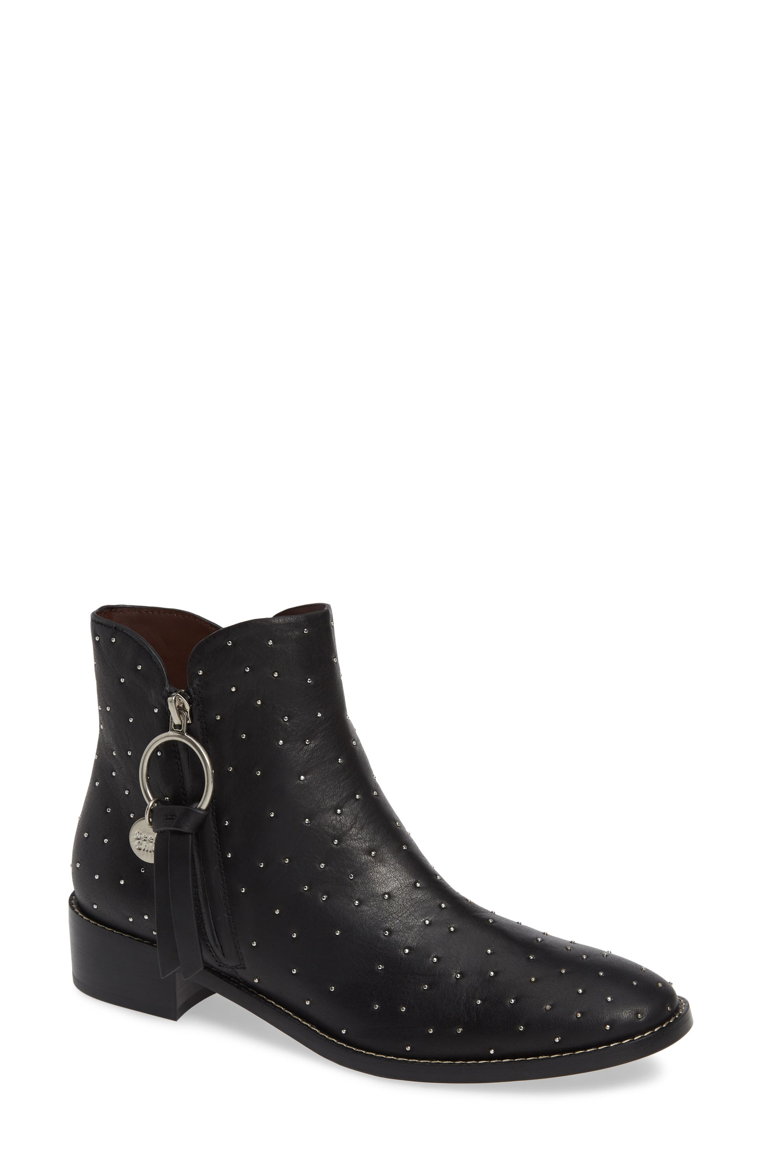 See By Chloe Louise Studded Bootie, Black