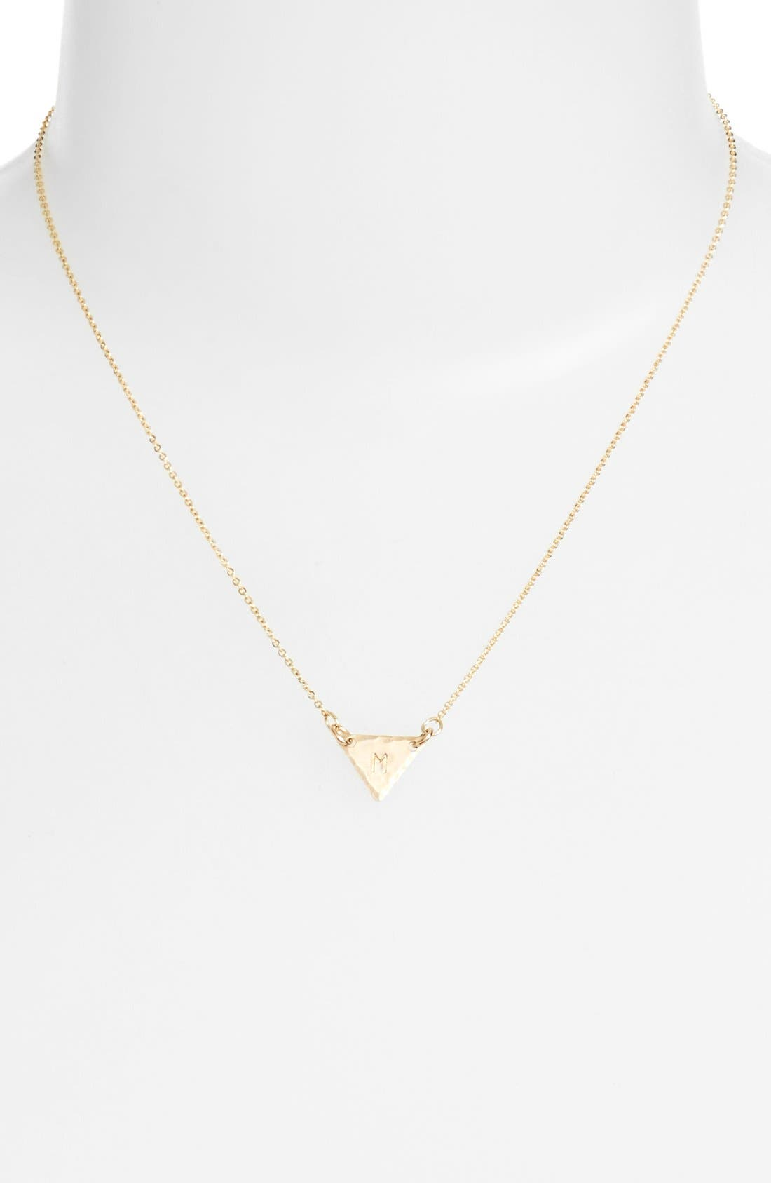 14k-Gold Fill Initial Triangle Necklace,                             Alternate thumbnail 39, color,
