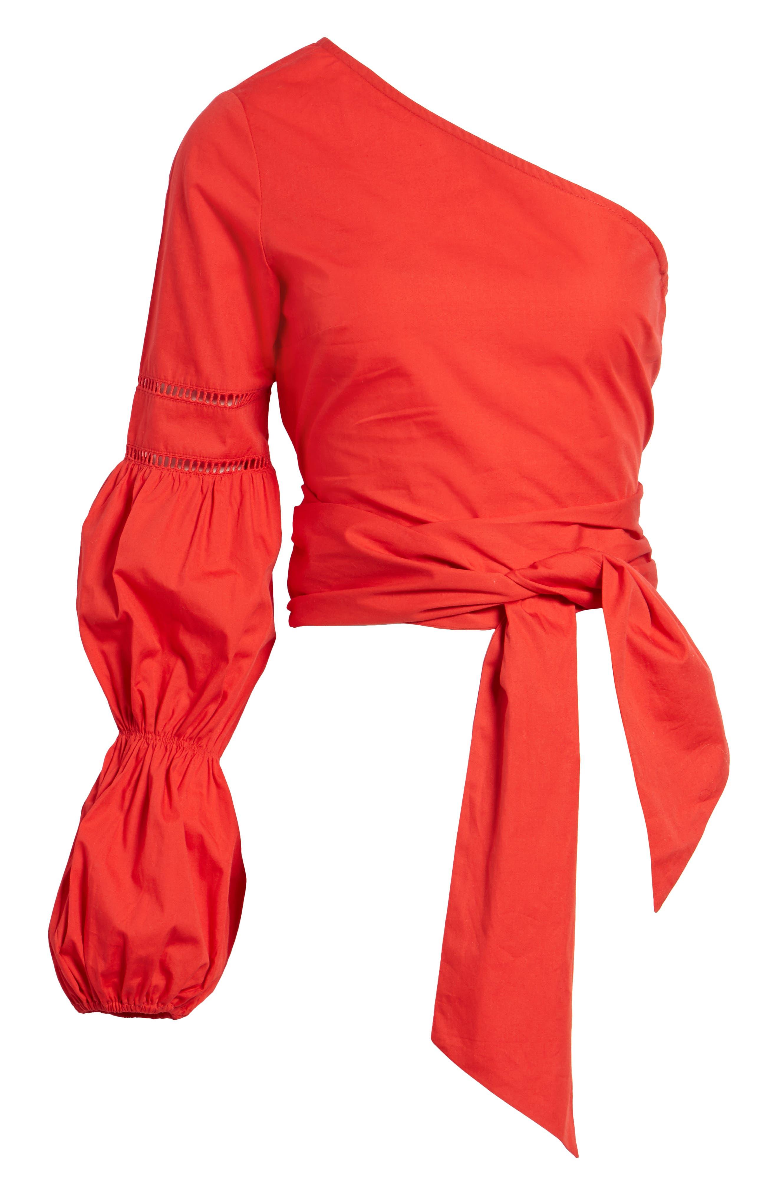 TULAROSA,                             Lola One-Shoulder Blouse,                             Alternate thumbnail 6, color,                             601