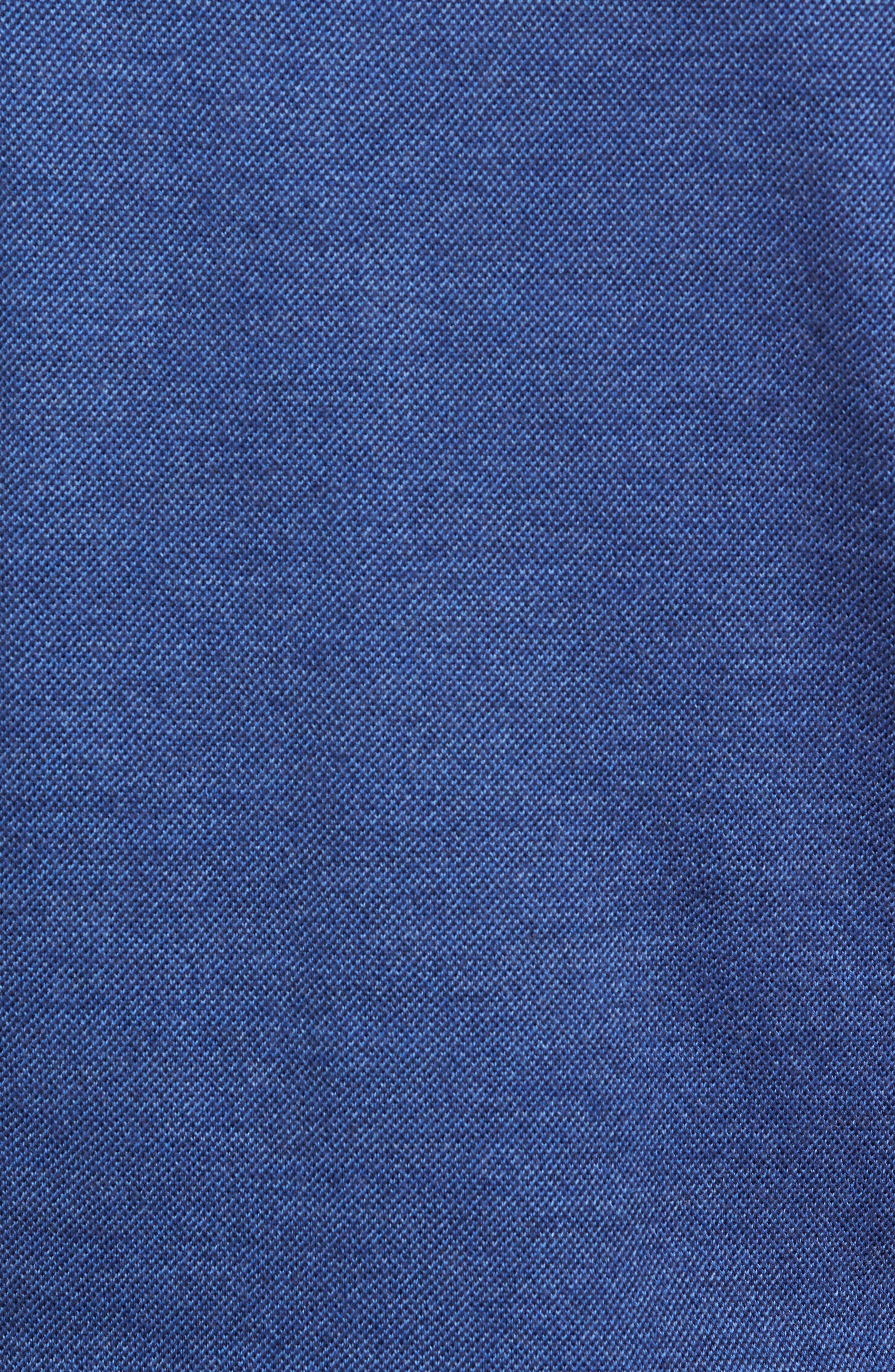 Birdseye Merino Wool Quarter Zip Sweater,                             Alternate thumbnail 5, color,                             PLAZA BLUE