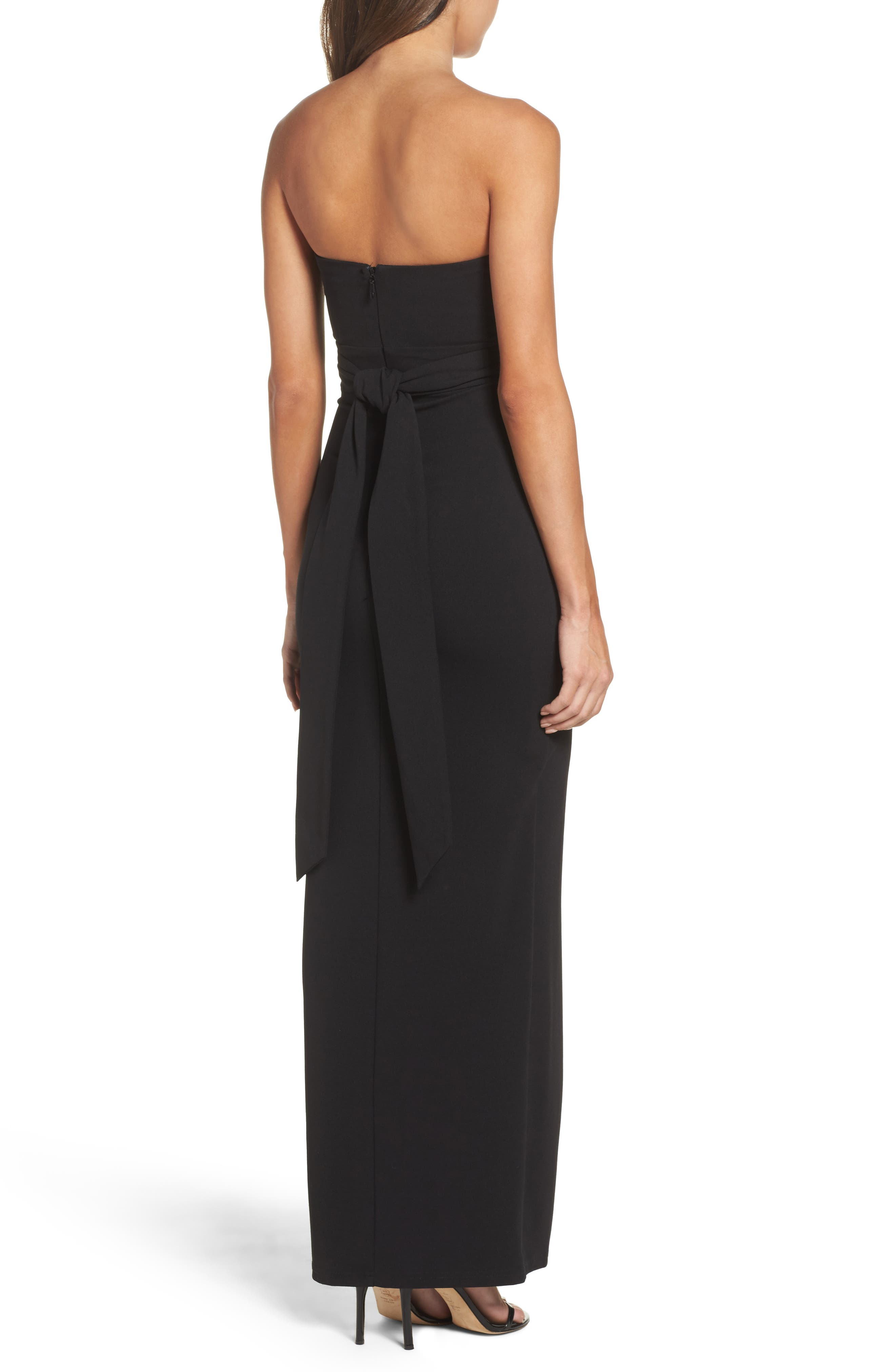 LULUS,                             Own the Night Strapless Maxi Dress,                             Alternate thumbnail 2, color,                             BLACK