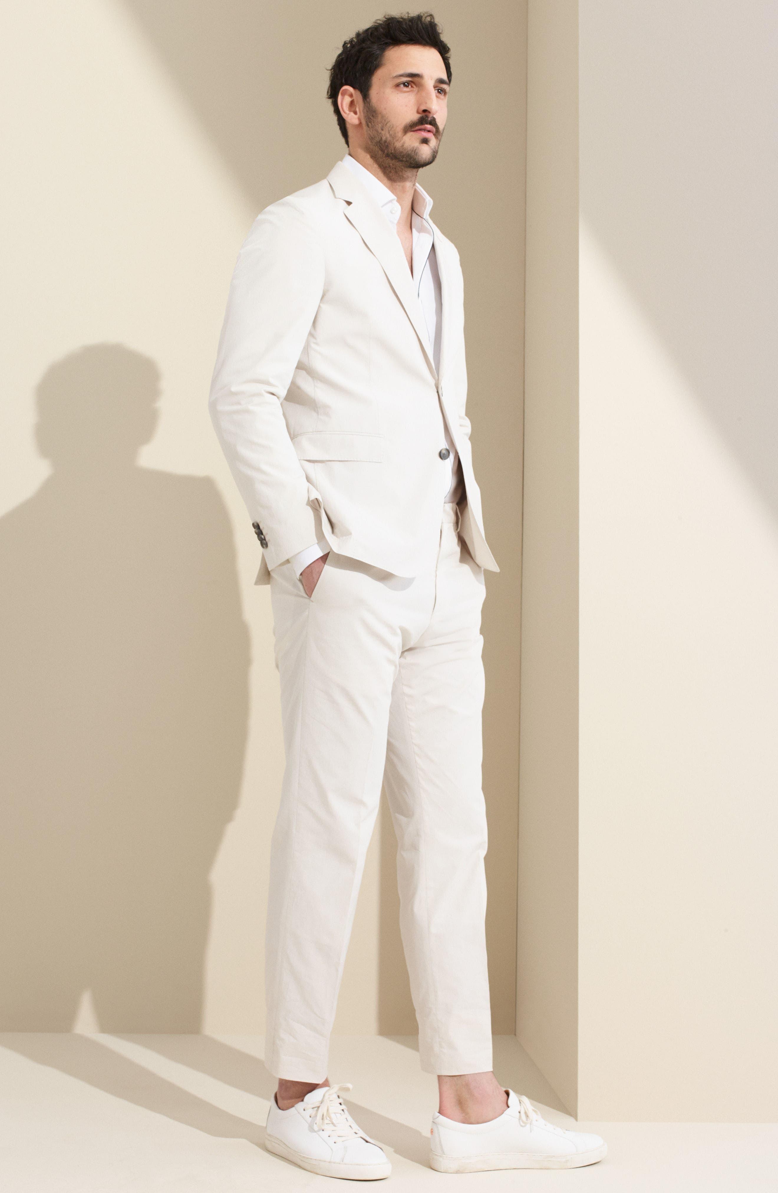 Nylen/Perry Trim Fit Solid Cotton Suit,                             Alternate thumbnail 9, color,