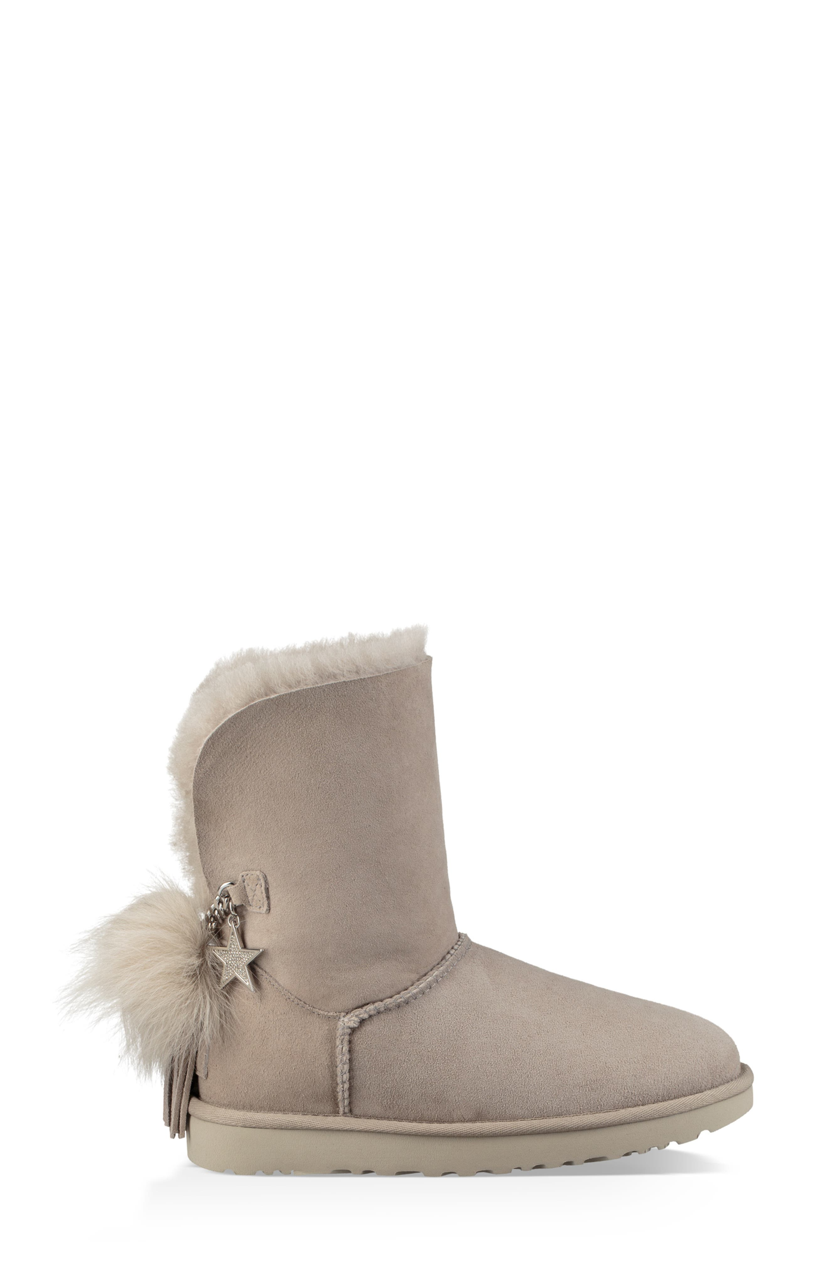 Classic Charm Bootie,                             Alternate thumbnail 3, color,                             WILLOW SUEDE