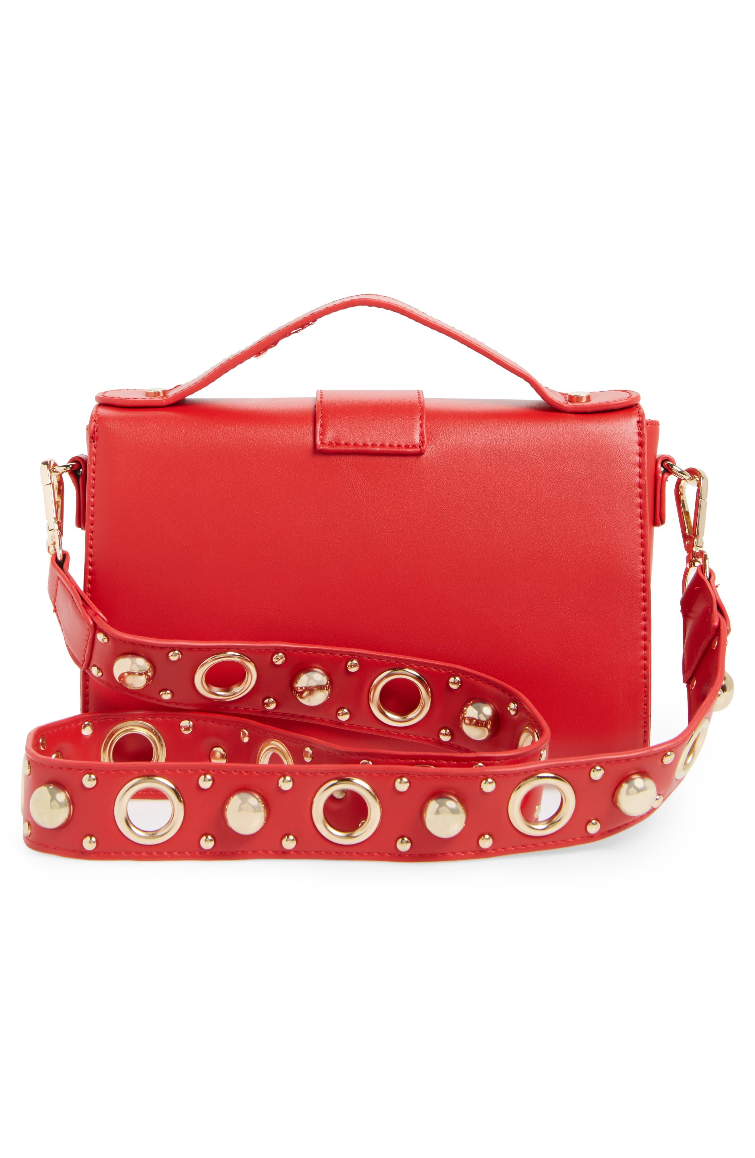 Studded Strap Crossbody Bag,                             Alternate thumbnail 6, color,