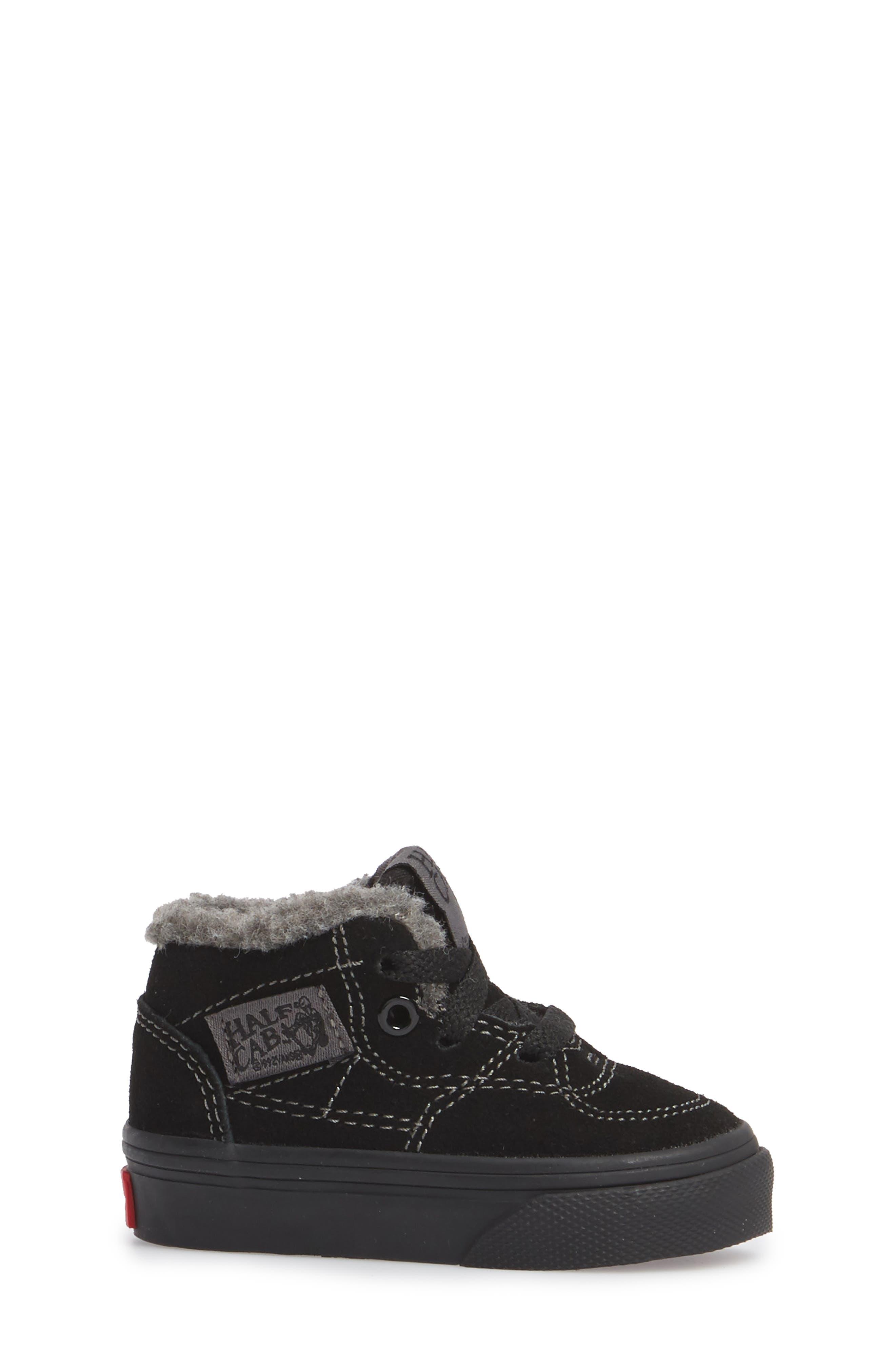 Half Cab Sneaker,                             Alternate thumbnail 3, color,                             001