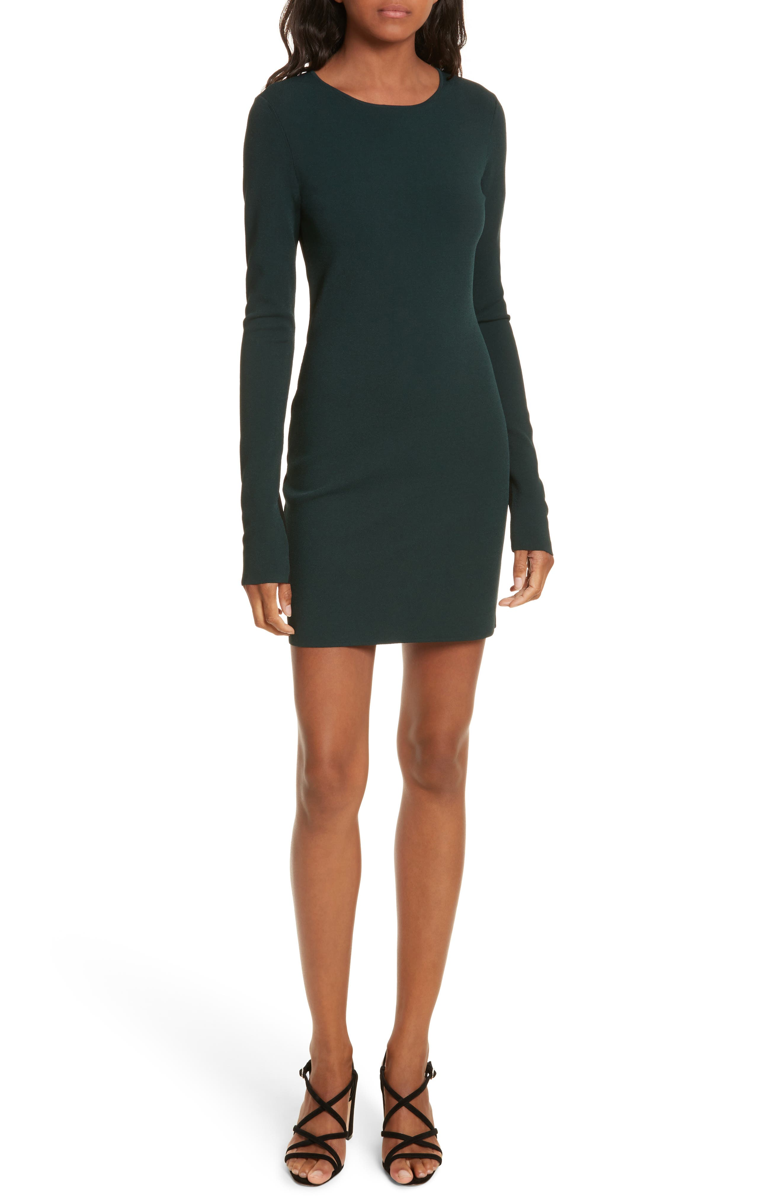 Diane von Furstenberg Long Sleeve Minidress,                             Main thumbnail 1, color,                             361