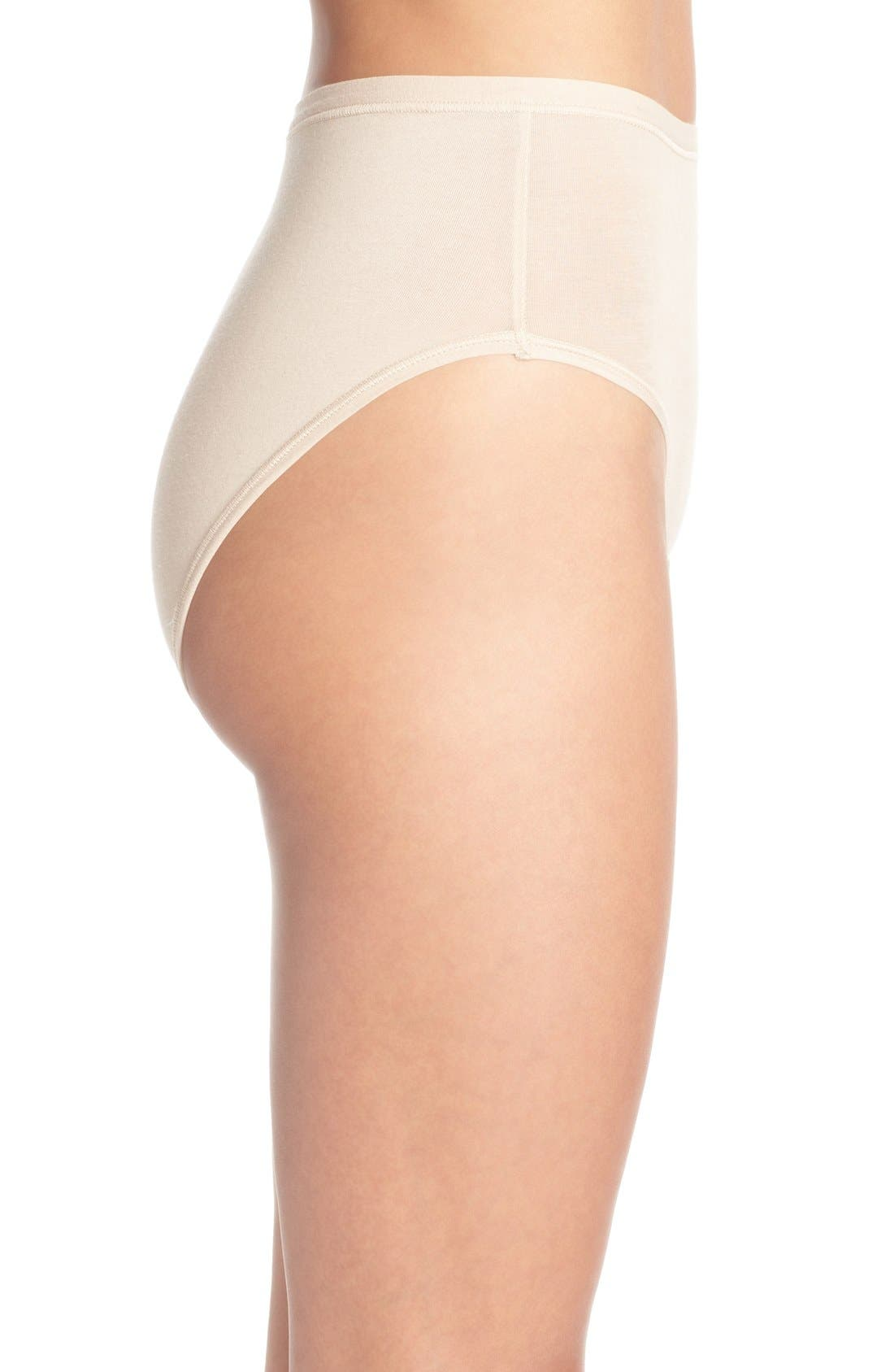 B Fitting High Cut Briefs,                             Alternate thumbnail 3, color,                             NUDE
