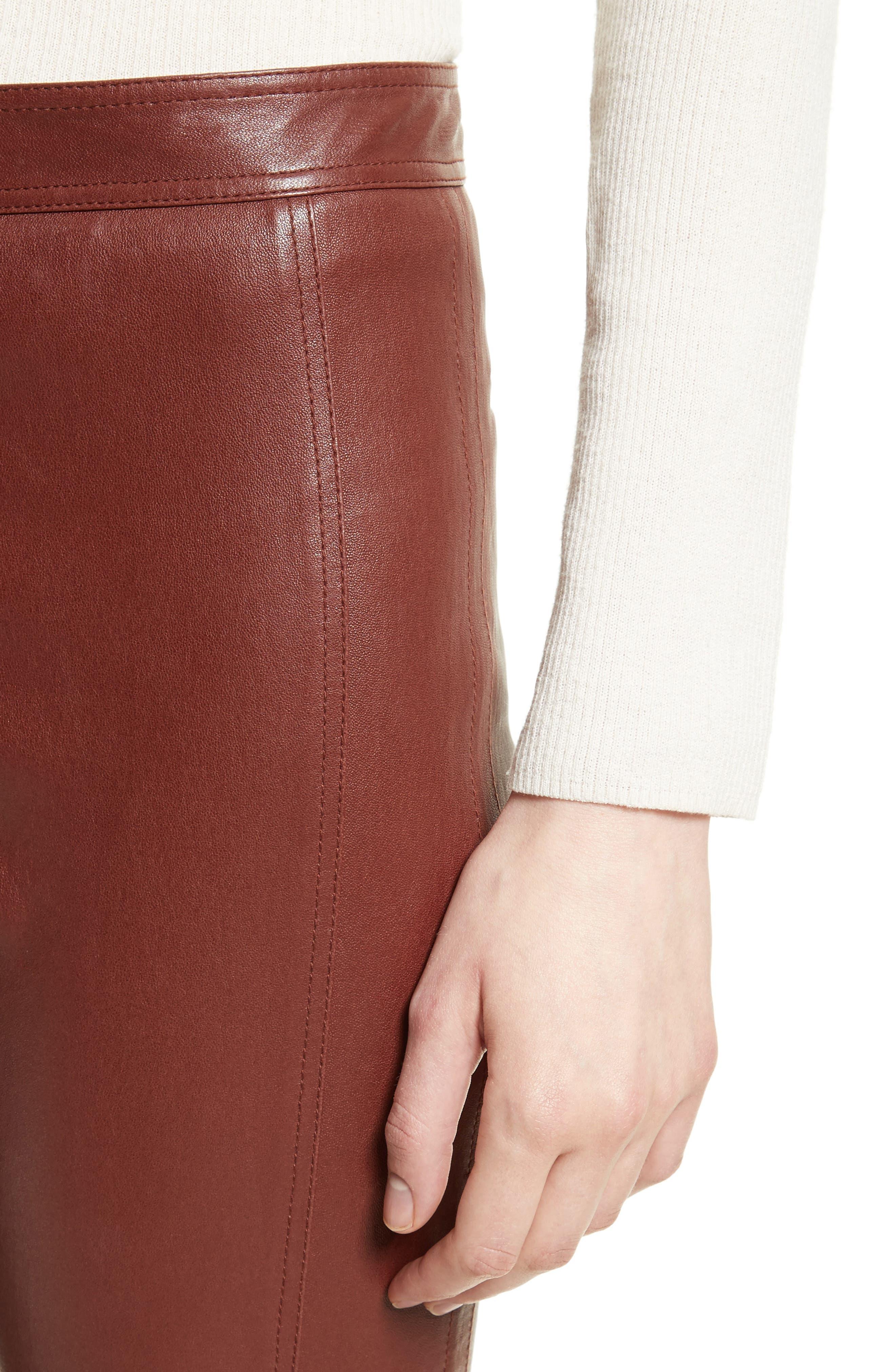 Bristol Leather Riding Pants,                             Alternate thumbnail 4, color,                             215