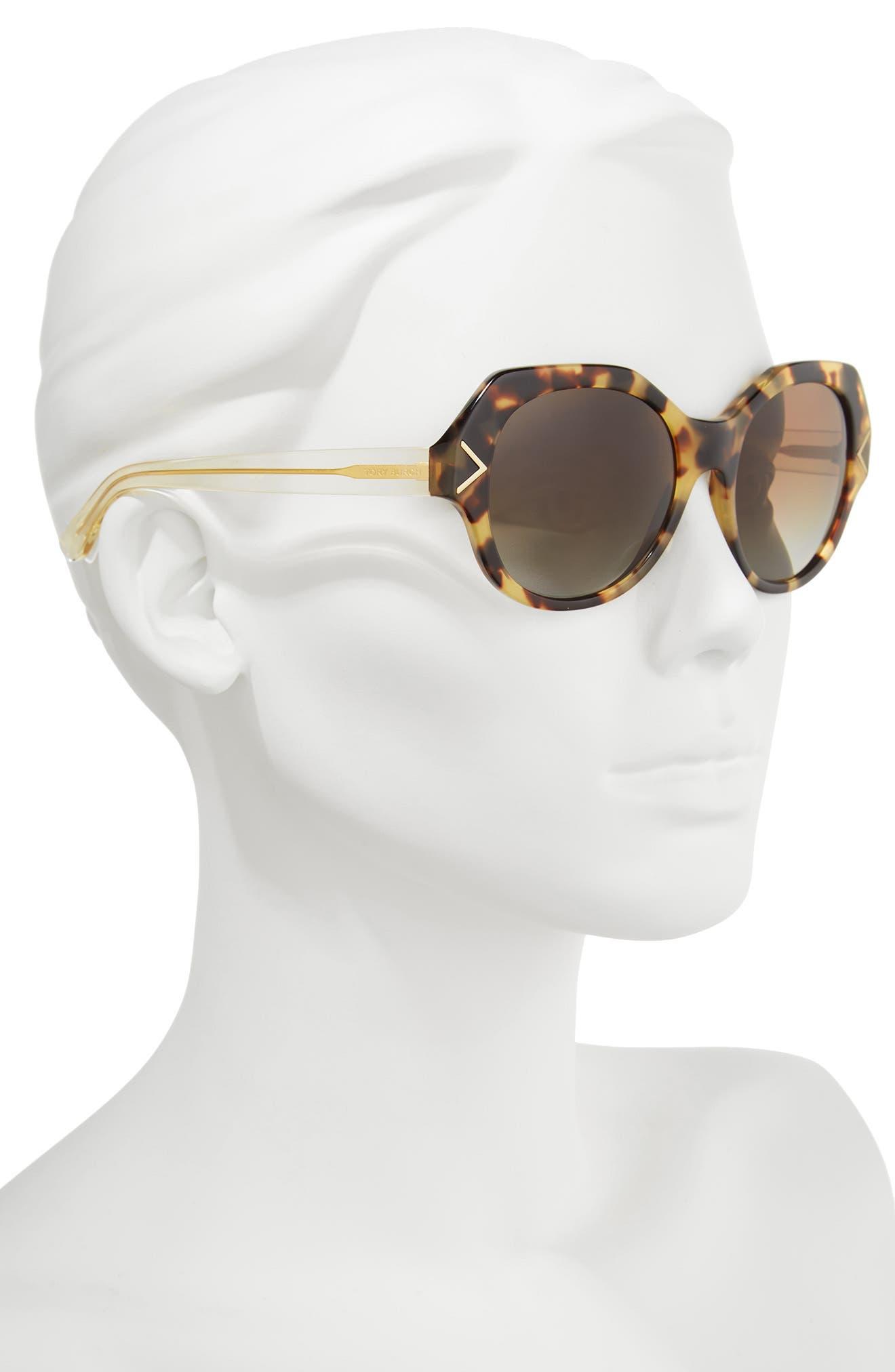 53mm Polarized Gradient Geometric Sunglasses,                             Alternate thumbnail 4, color,
