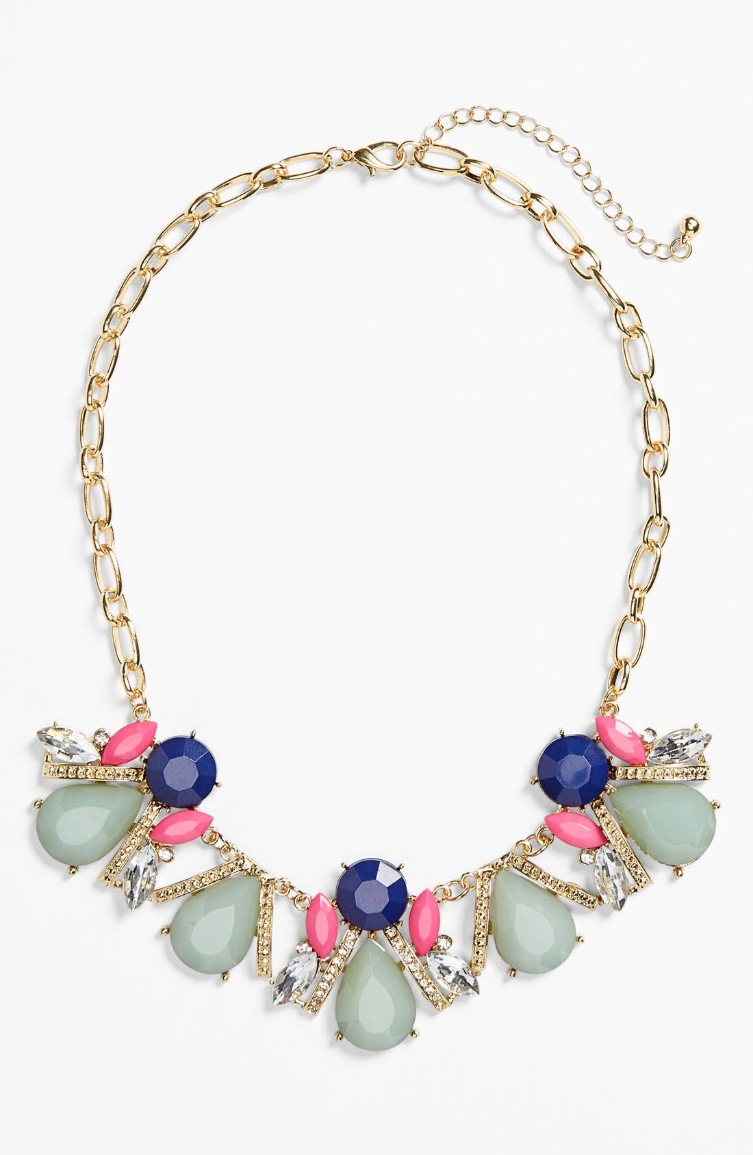 Stone Cluster Frontal Necklace, Main, color, 960