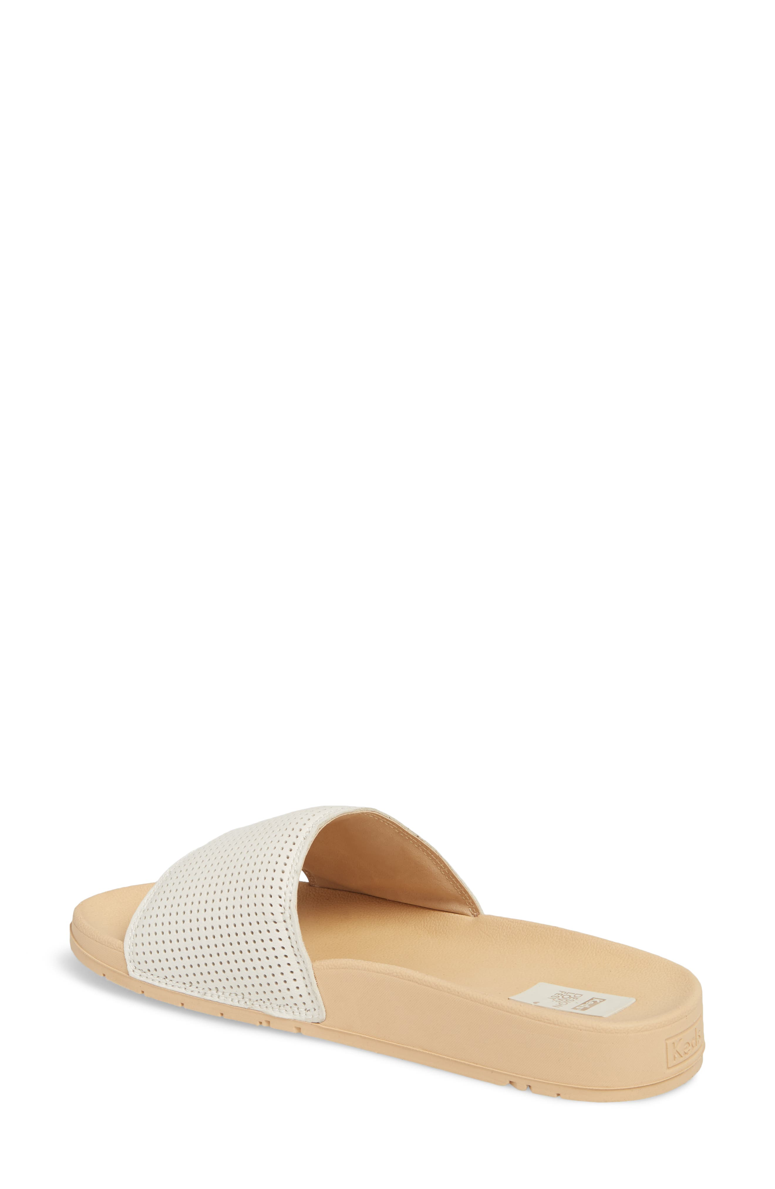 x Designlovefest Bliss Slide Sandal,                             Alternate thumbnail 2, color,                             CREAM/ TAN